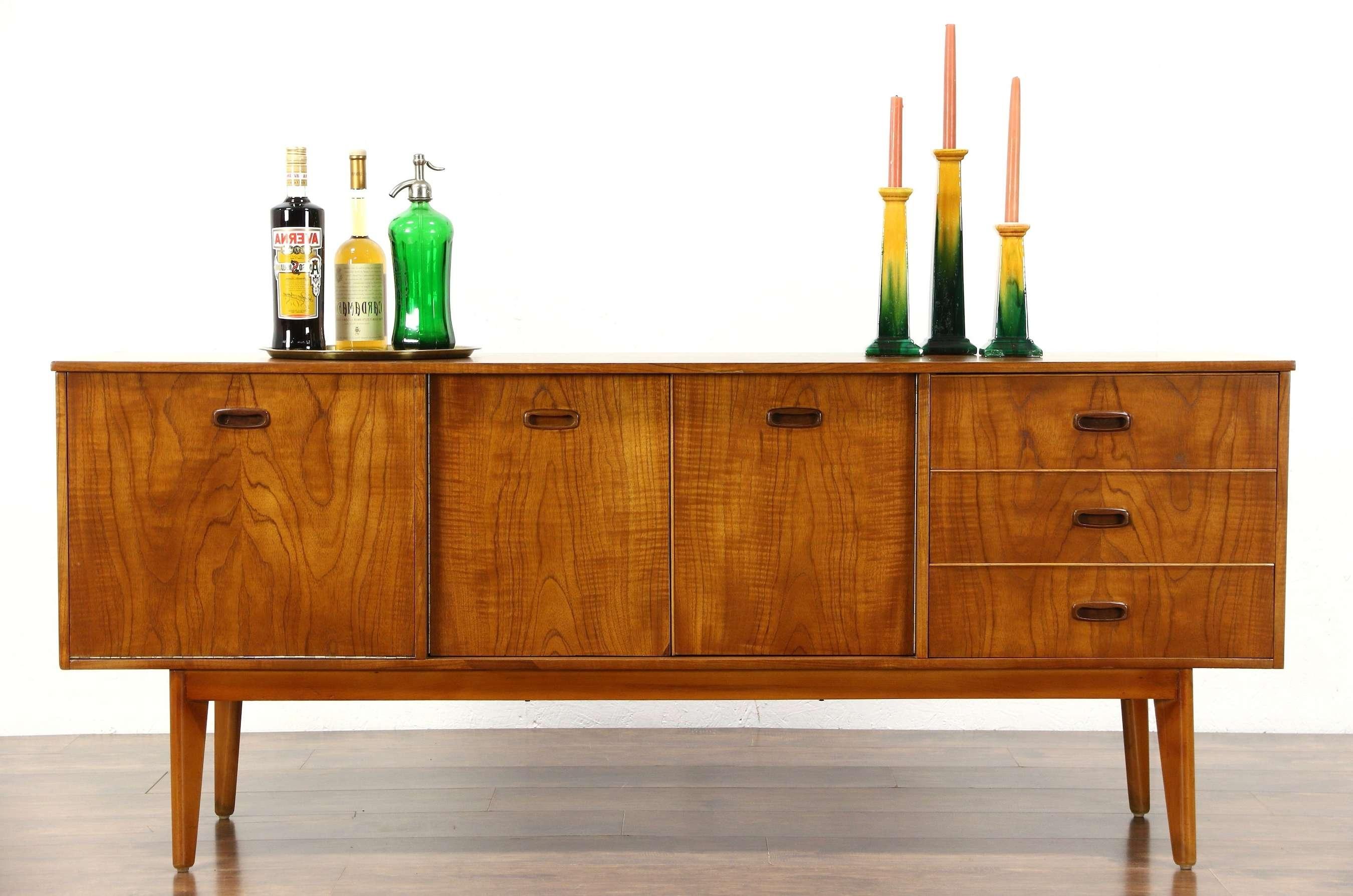 Sold – Midcentury Modern Teak 1960 Vintage Bar Cabinet Sideboard For Sideboards Bar Cabinet (View 5 of 20)