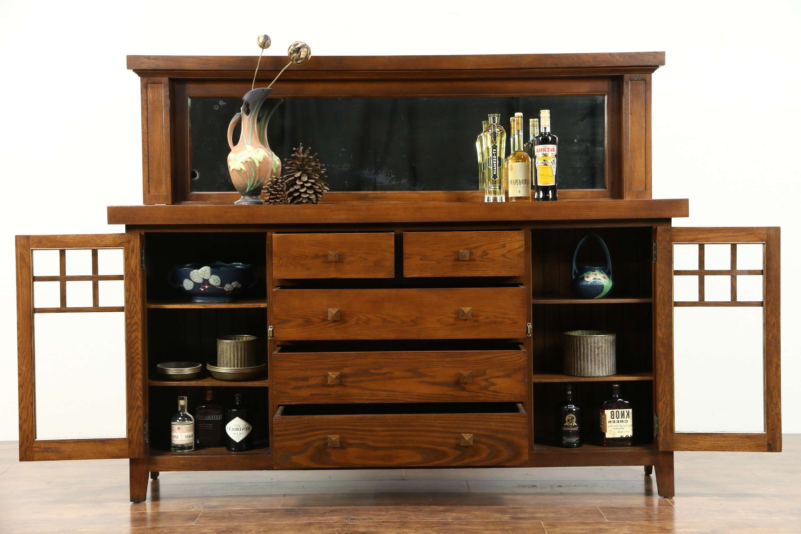 Sold Sideboards, Demilune – Harp Gallery Antiques Inside Mission Style Sideboards (View 19 of 20)