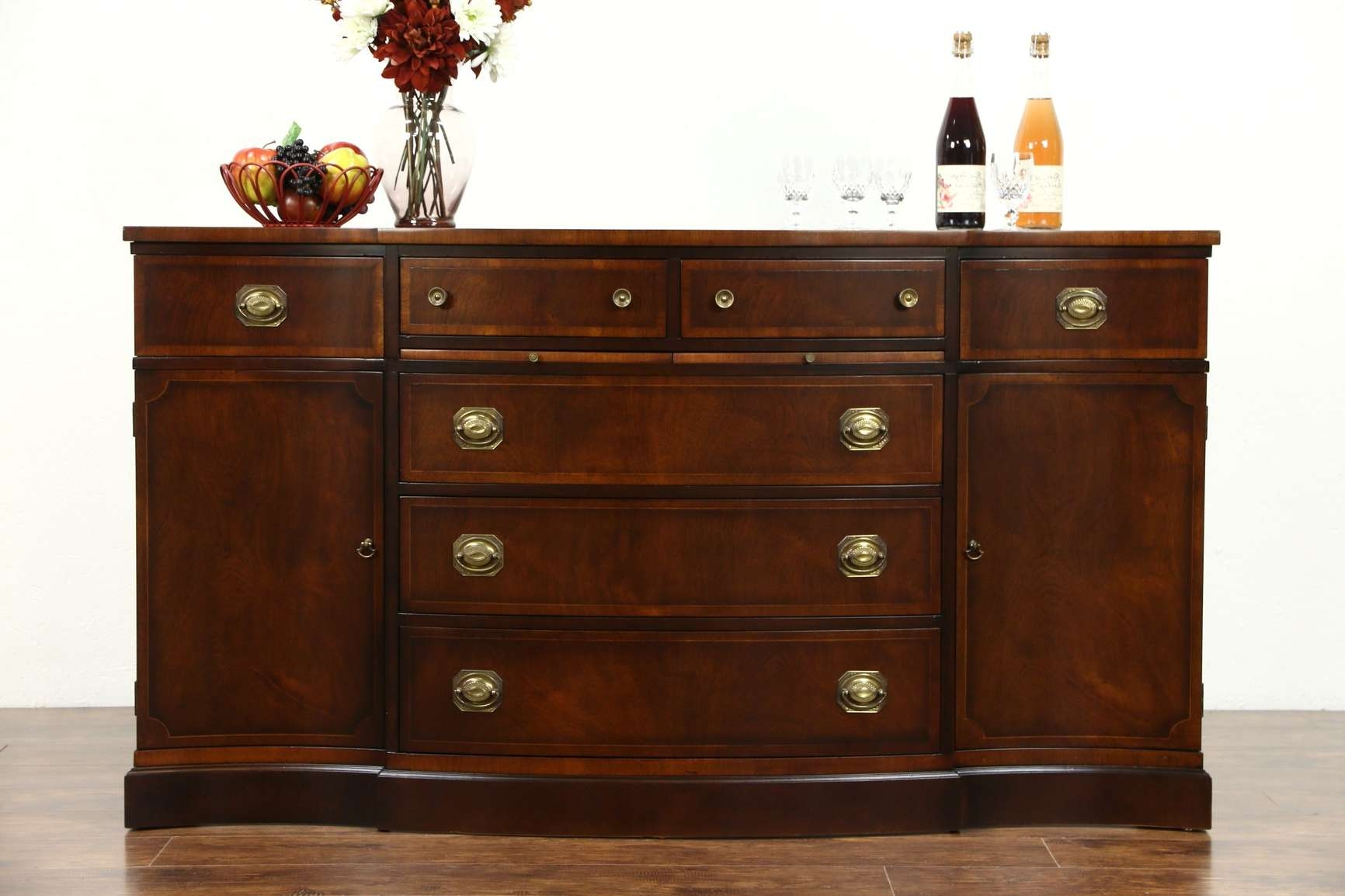 Sold – Traditional Mahogany Sideboard, Server Or Buffet, Signed Pertaining To Mahogany Sideboards Buffets (View 19 of 20)