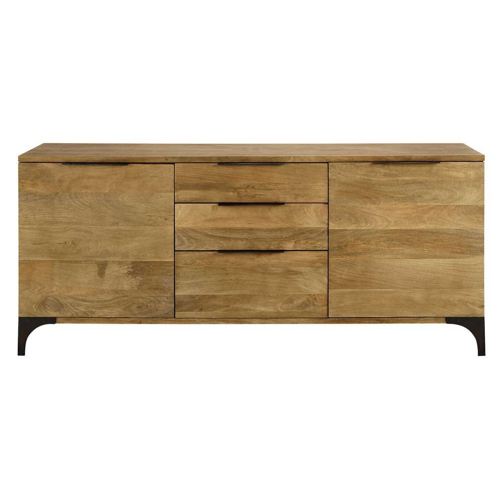 Solid Mango Wood Sideboard W 180Cm | Maisons Du Monde In Wooden Sideboards (View 18 of 20)