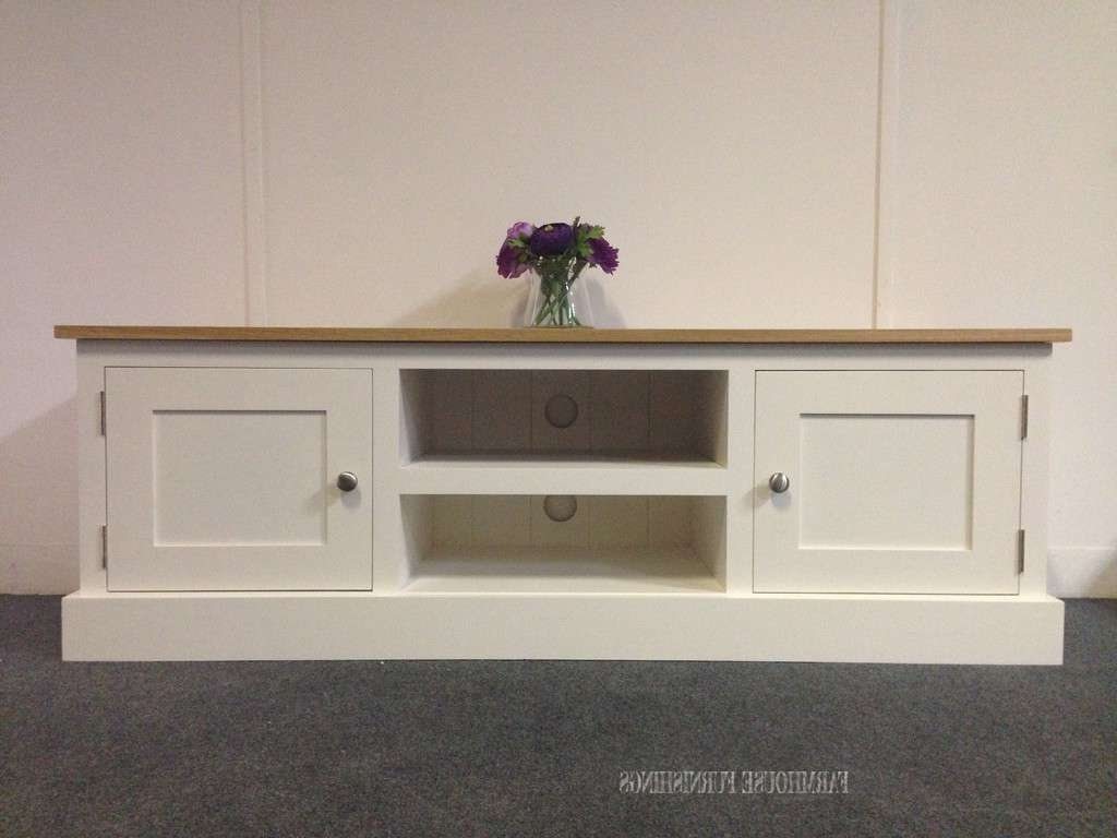 Solid Oak And Pine Tv Unit, Farmhouse Furnishings Intended For Pine Tv Cabinets (View 12 of 20)