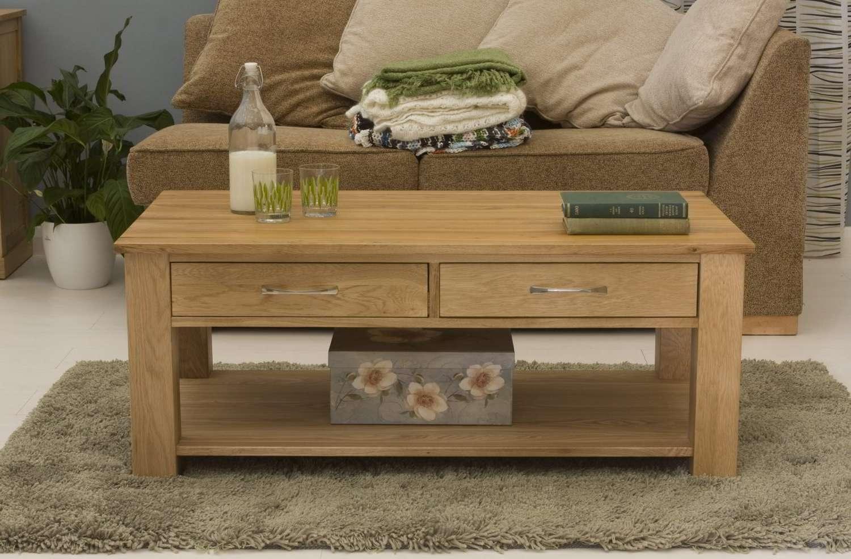 Solid Oak Coffee Table – Writehookstudio Inside Most Up To Date Solid Oak Coffee Table With Storage (View 5 of 20)