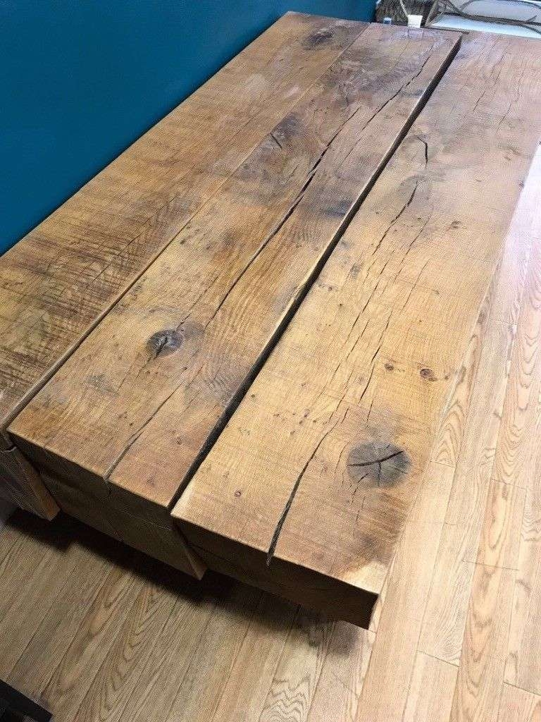 Solid Oak Sleeper Coffee Table (View 15 of 20)