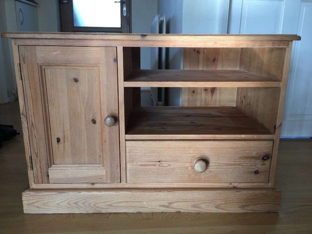 Solid Pine Tv Cabinet | In Saltdean, East Sussex | Gumtree For Solid Pine Tv Cabinets (View 11 of 20)
