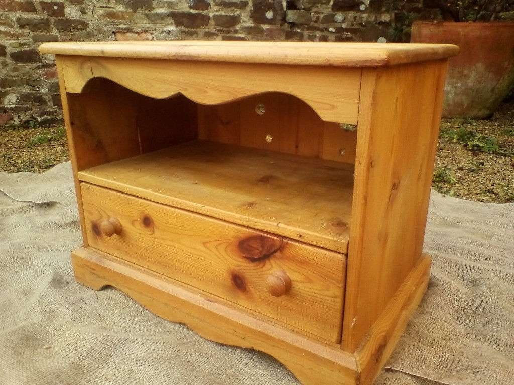 Solid Pine Tv Cabinet/unit – *free Local Delivery | In Derriford Inside Solid Pine Tv Cabinets (View 12 of 20)