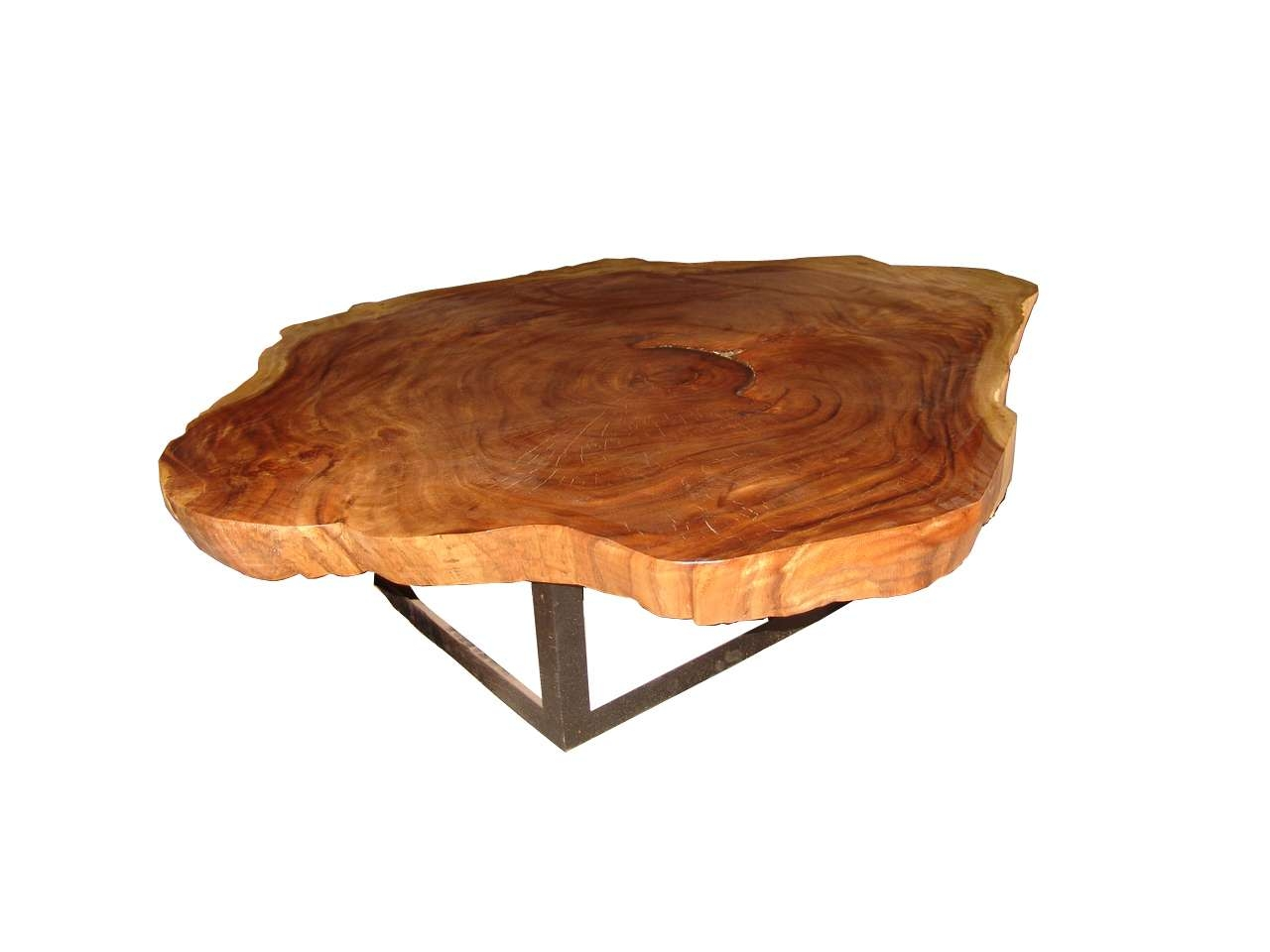 Solid Round Acacia Wood Slab Coffee Tables, On Designer Pages For Popular Solid Round Coffee Tables (View 16 of 20)