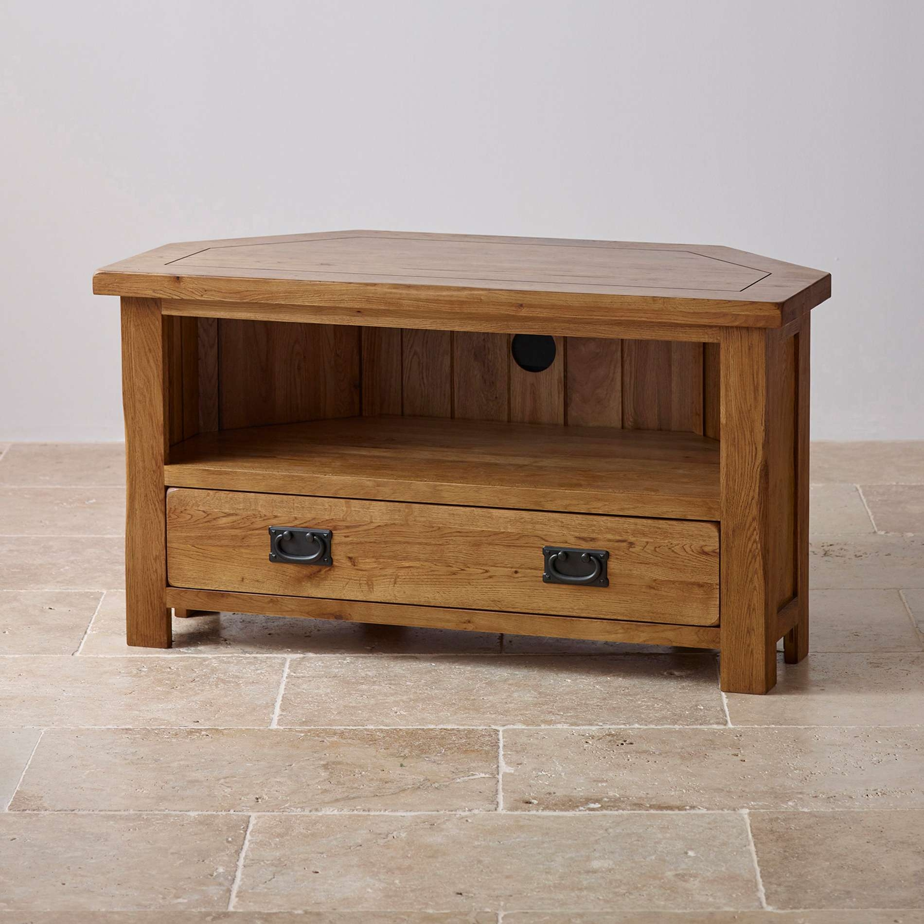 Solid Wood Cd Dvd Storage Cabinet With Rustic Ideas And Tilson Oak Pertaining To Solid Wood Corner Tv Cabinets (View 11 of 20)