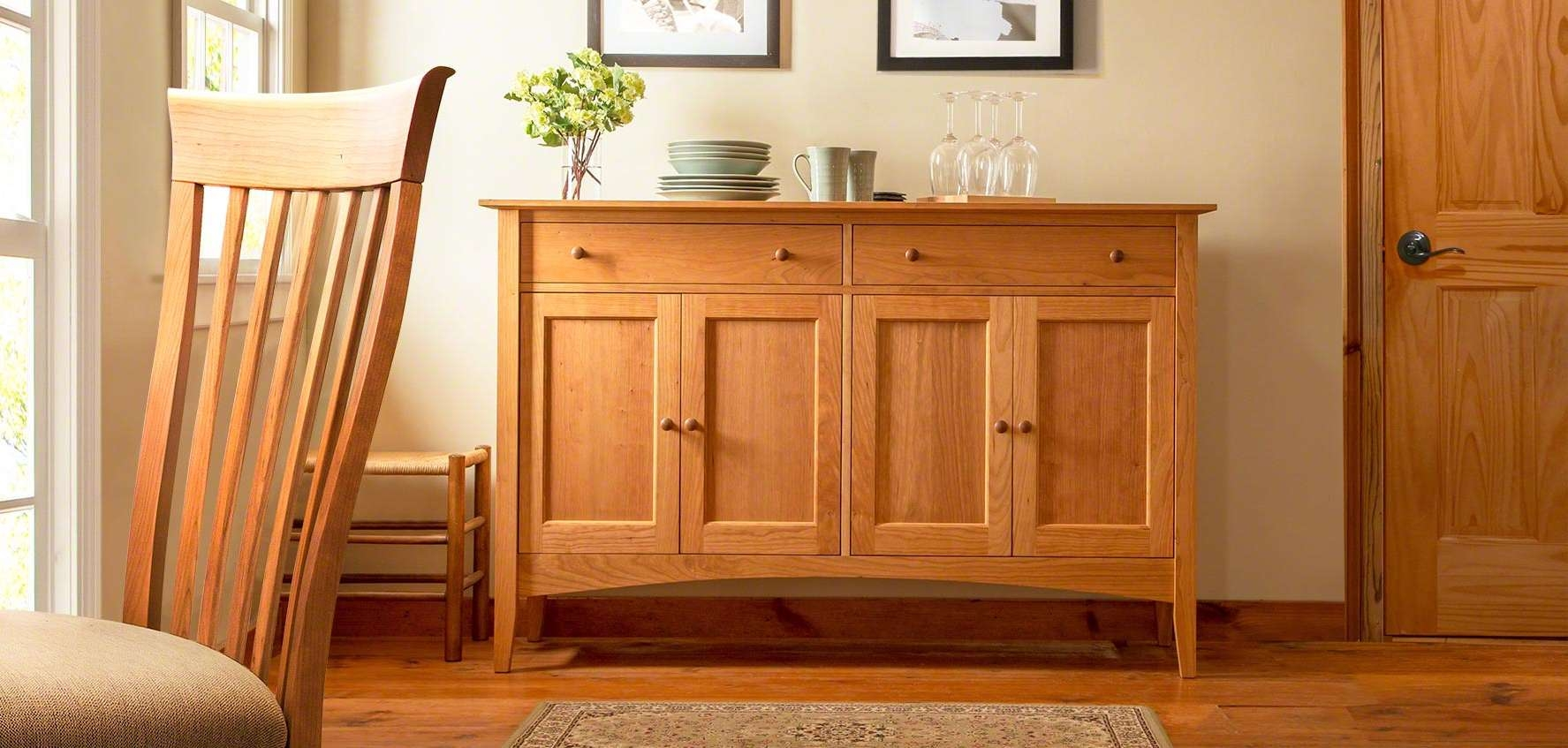 Solid Wood Sideboards, Buffets, & Hutches – Vermont Woods Studios Throughout Wood Sideboards (View 18 of 20)