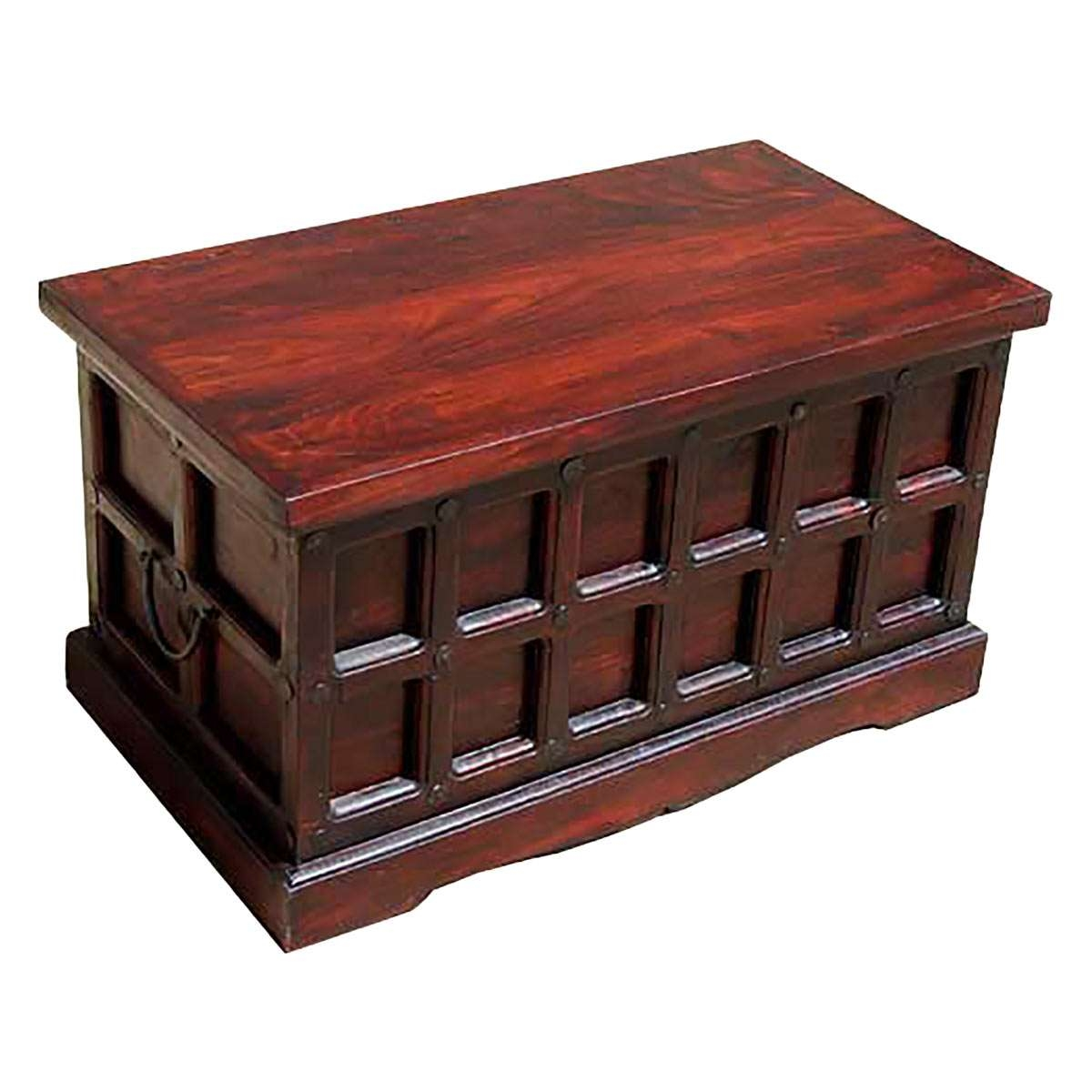 Solid Wood Storage Chest Trunk Box Coffee Table In Recent Coffee Tables With Box Storage (View 1 of 20)