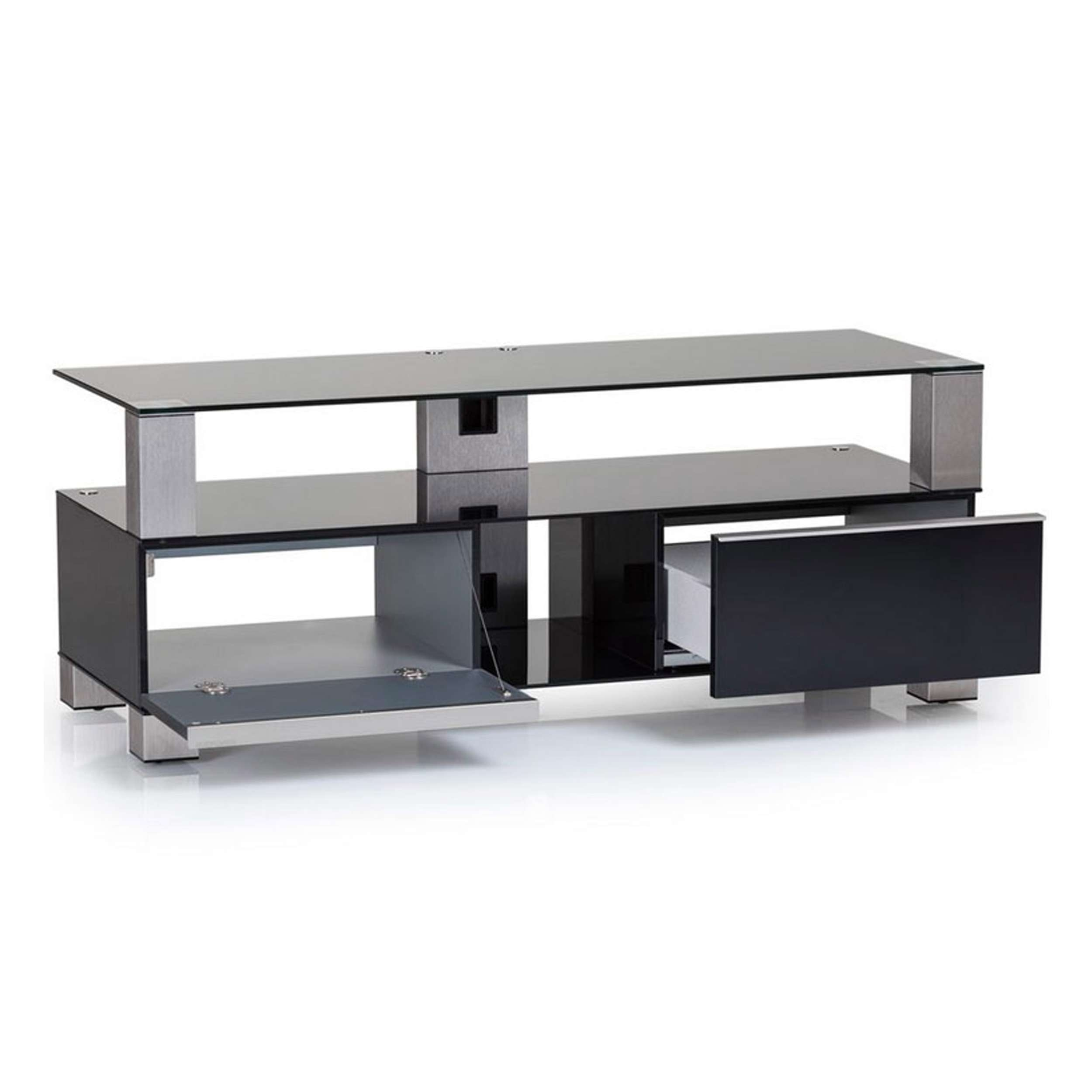 """Sonorous Md9120 B Inx Blk Black Cabinet For Tvs Up To 50"""" Pertaining To Sonorous Tv Cabinets (View 4 of 20)"""