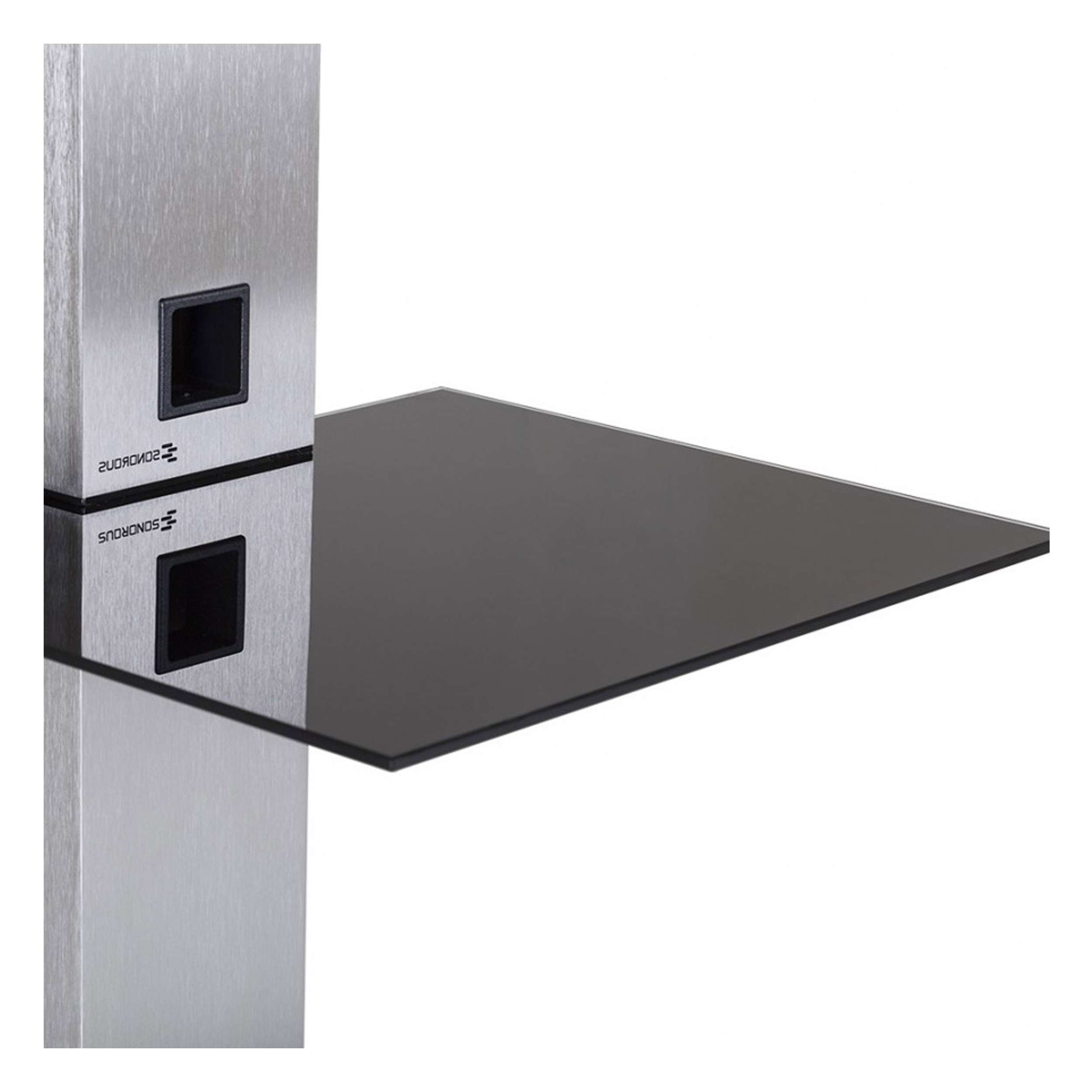 """Sonorous Pl2515 Glass And Aluminium Stand For Tvs Up To 50"""" In Sonorous Tv Cabinets (View 7 of 20)"""