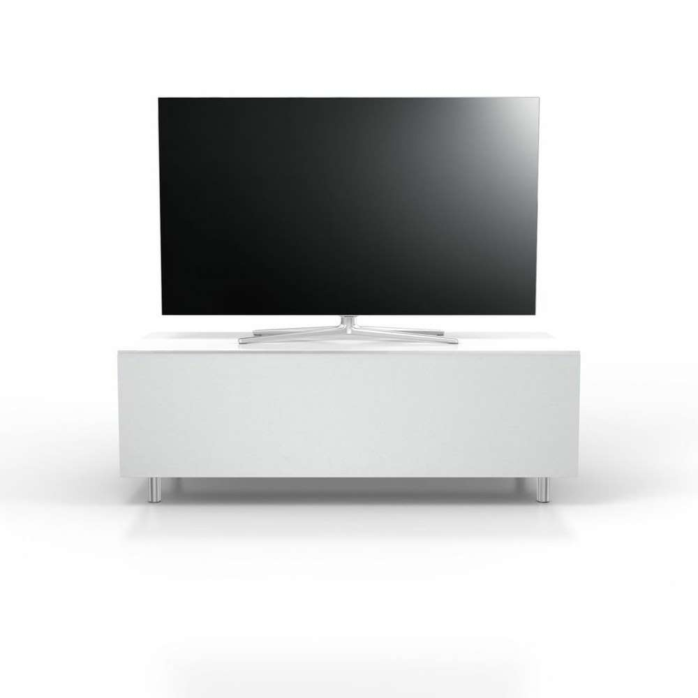 Spectral Just Racks Jrl1101S Gloss White Tv Cabinet W/ Fabric With Gloss White Tv Cabinets (View 17 of 20)