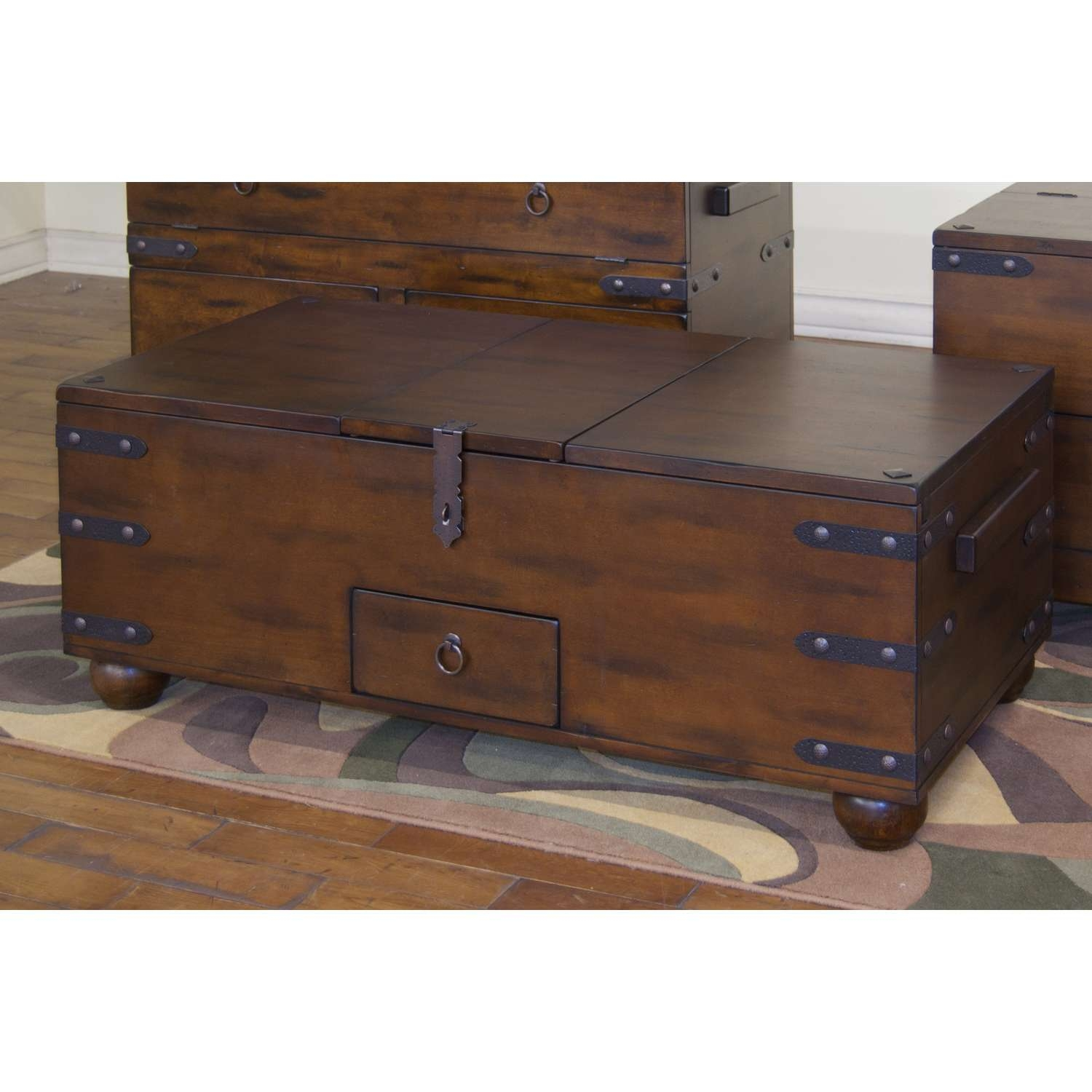 Square Chest Coffee Table Tables Thippo With Proportions X Large Throughout Most Recent Trunk Chest Coffee Tables (View 17 of 20)