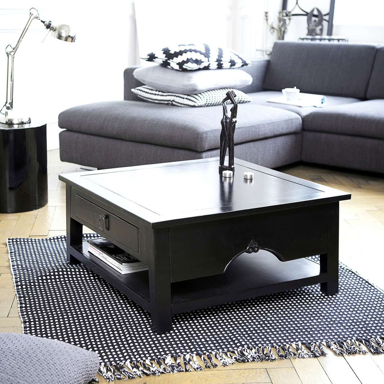 Square Coffee Table As Your Home Furnishing – Chocoaddicts Within Most Recent Square Black Coffee Tables (View 7 of 20)