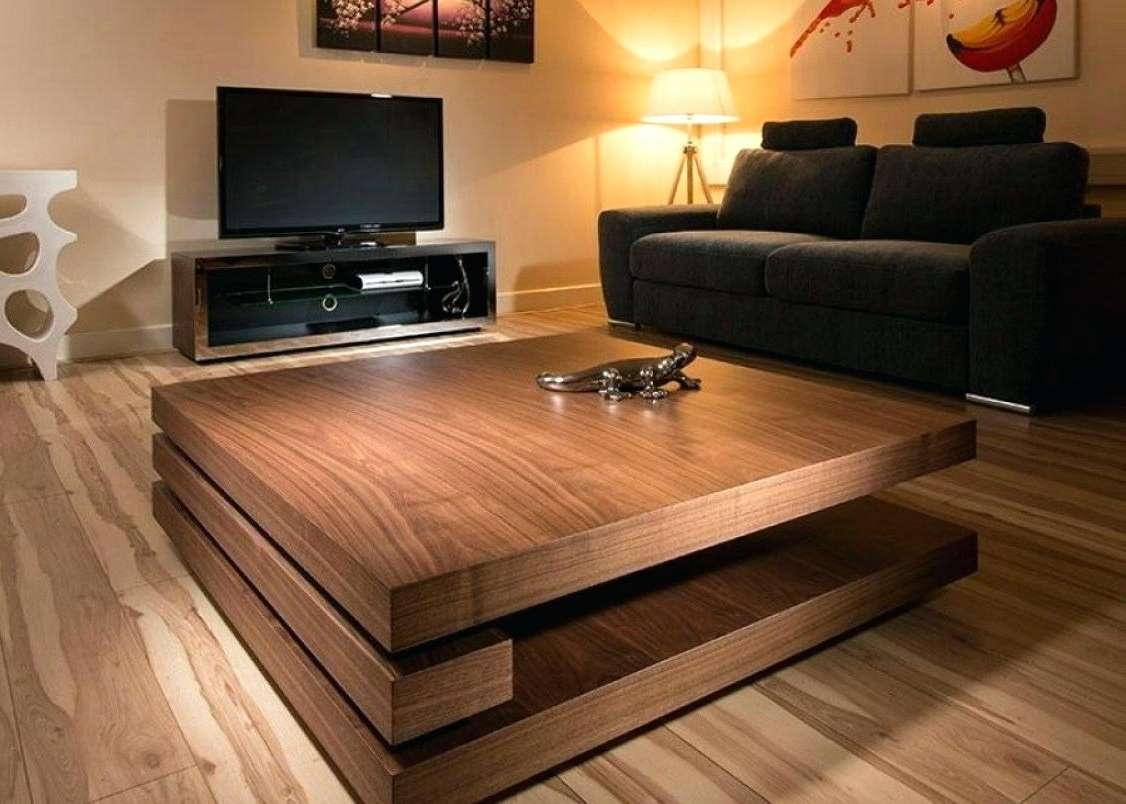 Square Coffee Table With Storage Fit For Your House Full Size Of Inside Most Recent Large Square Oak Coffee Tables (View 15 of 20)