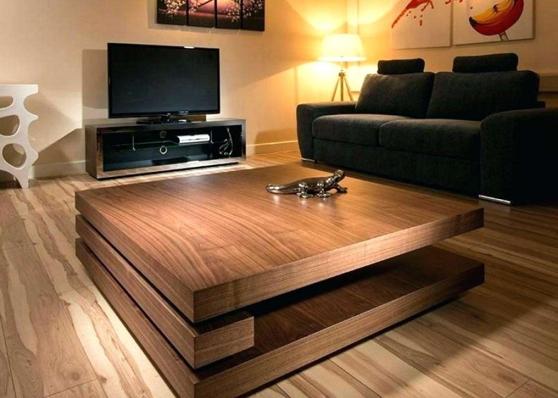 Square Coffee Table With Storage Plans Ottoman Large Oak Within Current Square Coffee Table Oak (View 14 of 20)