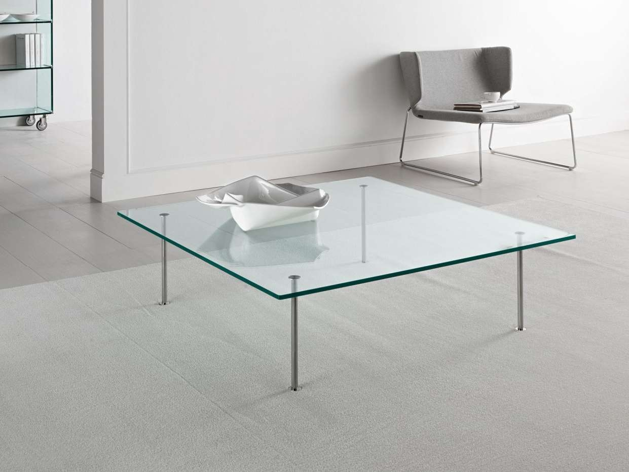Square Glass Coffee Table Contemporary Ideas : Square Glass Coffee In Preferred Simple Glass Coffee Tables (View 11 of 20)