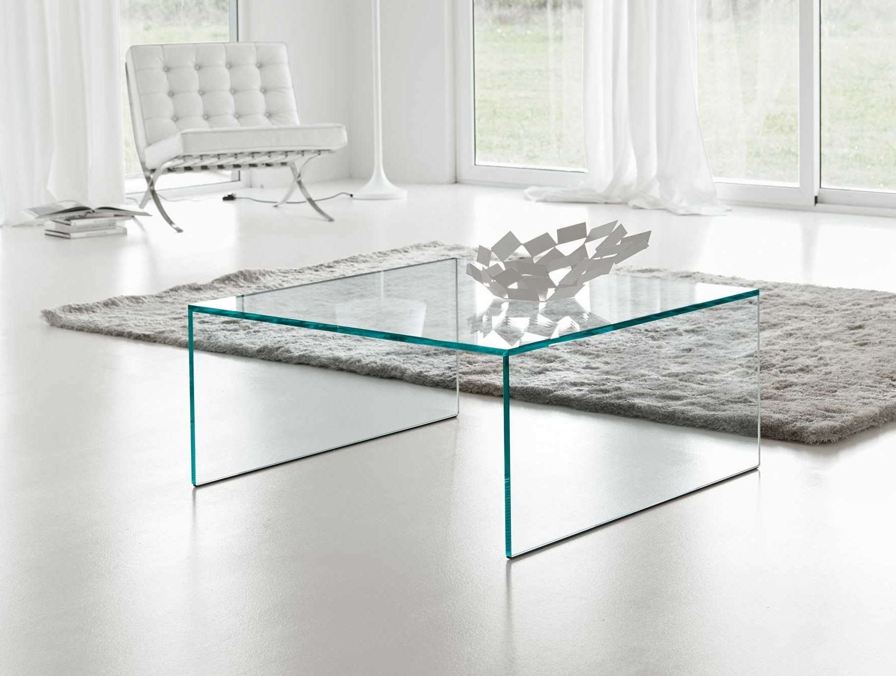 Square Glass Coffee Table Contemporary (View 18 of 20)