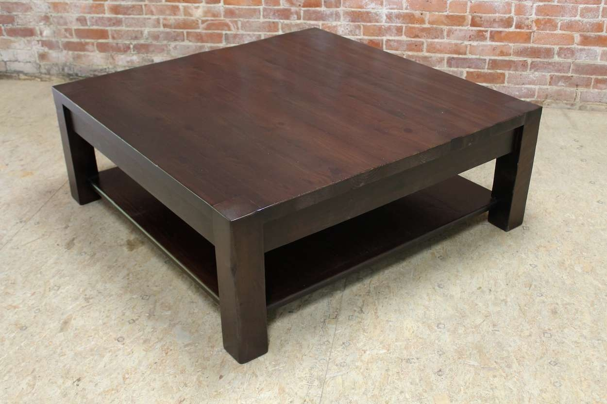 Square Parsons Coffee Table In Espresso – Ecustomfinishes Intended For Favorite Espresso Coffee Tables (View 16 of 20)