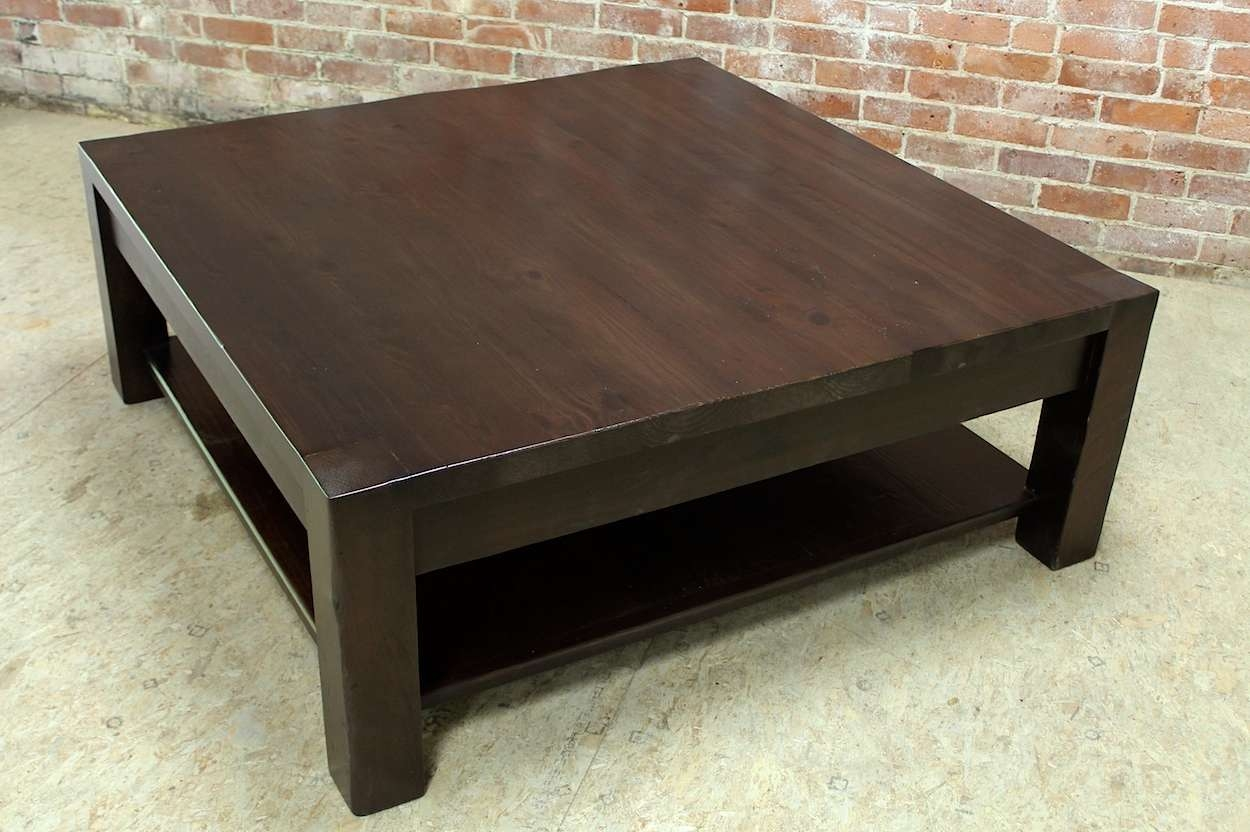 Square Parsons Coffee Table In Espresso – Ecustomfinishes Throughout Preferred Square Pine Coffee Tables (View 12 of 20)