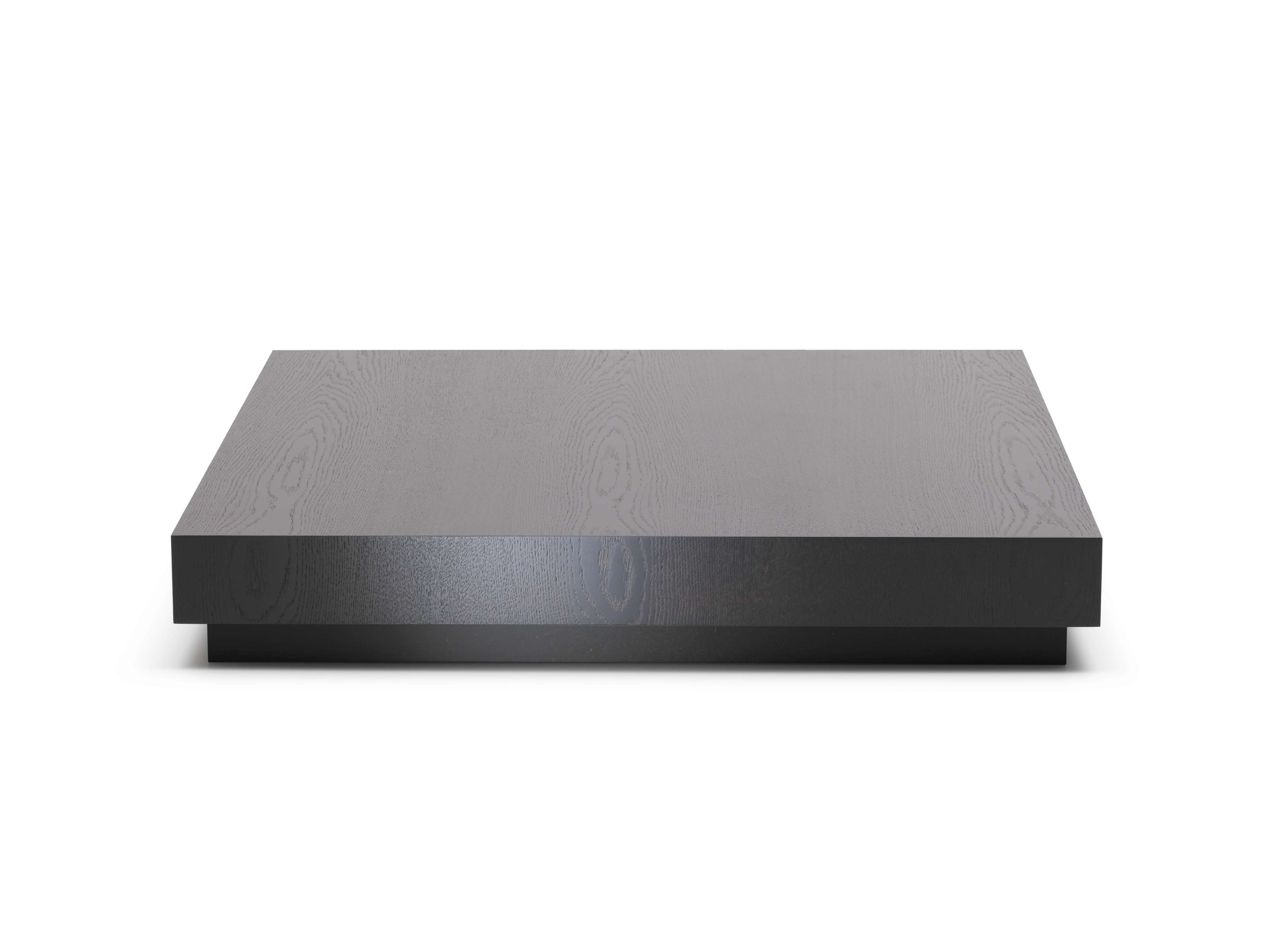 Square Wood Low Profile Coffee Table Painted With Black Color For In Latest Low Square Wooden Coffee Tables (View 8 of 20)