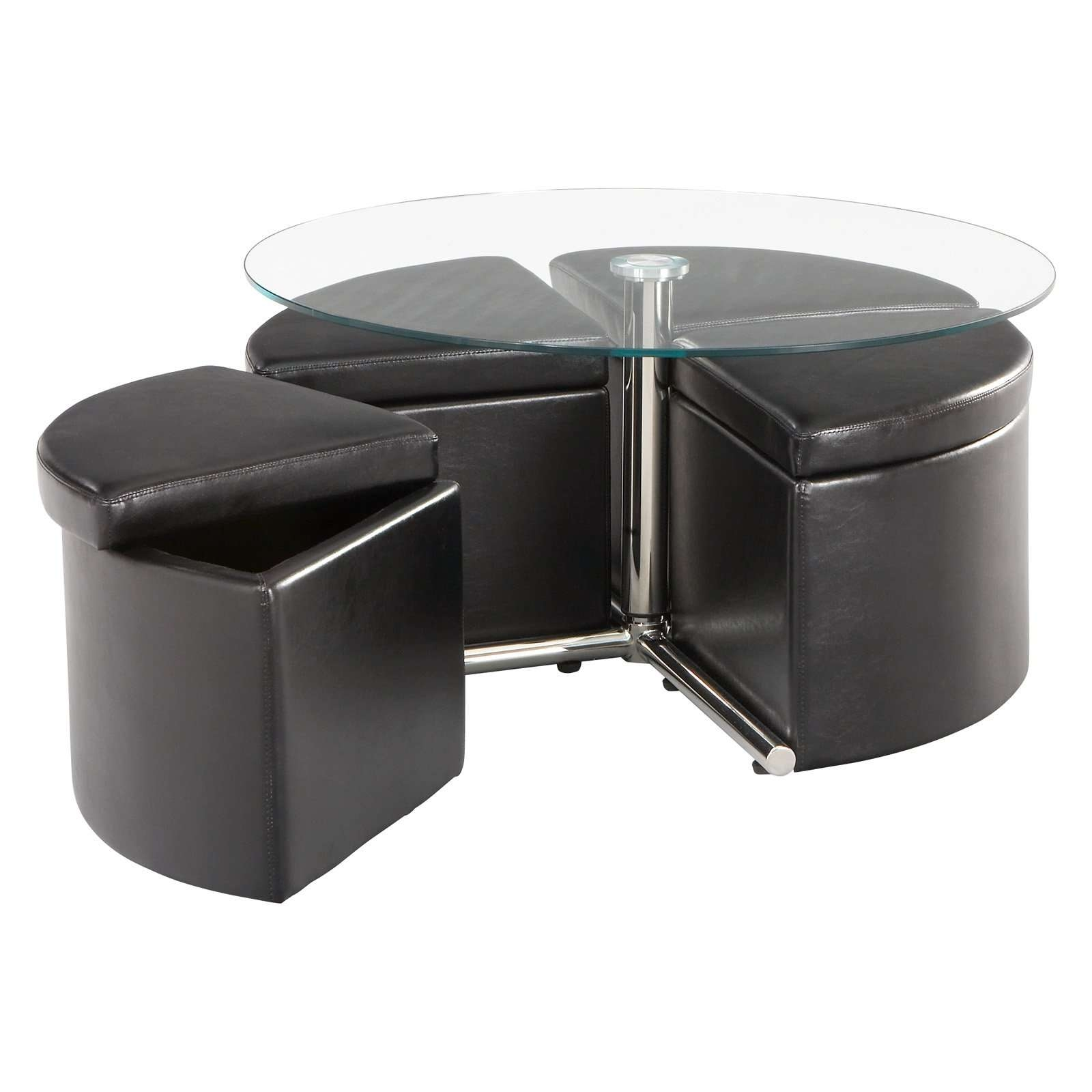 Standard Furniture Cosmo Adjustable Height Round Glass Top Coffee With Regard To 2018 Cosmo Coffee Tables (View 3 of 20)