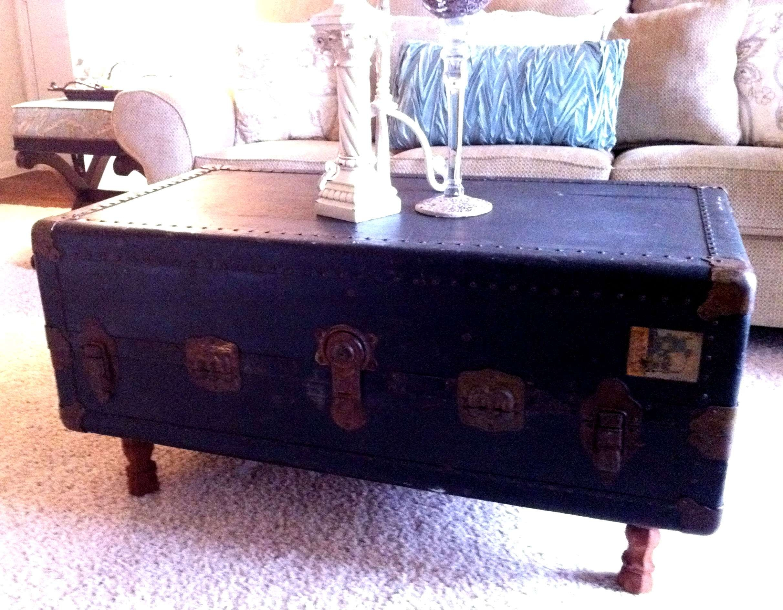 Steamer Trunk Coffee Table: Repurposing Old Stuff (View 3 of 20)