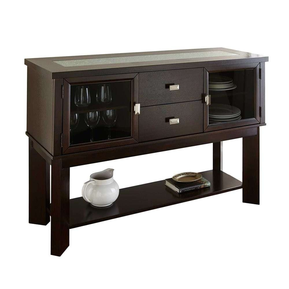 Steve Silver Buffet Tables & Sideboards | Homeclick Pertaining To Black And Silver Sideboards (View 16 of 20)