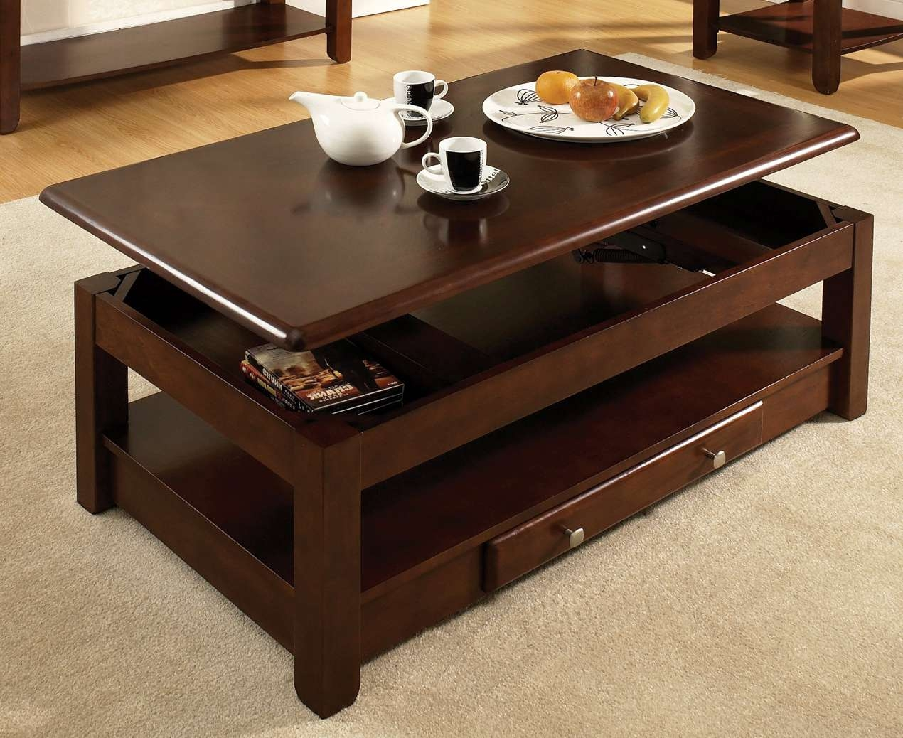 Steve Silver Furniture Nelson Lift Top Coffee Table – Walmart Within Current Logan Lift Top Coffee Tables (View 14 of 20)