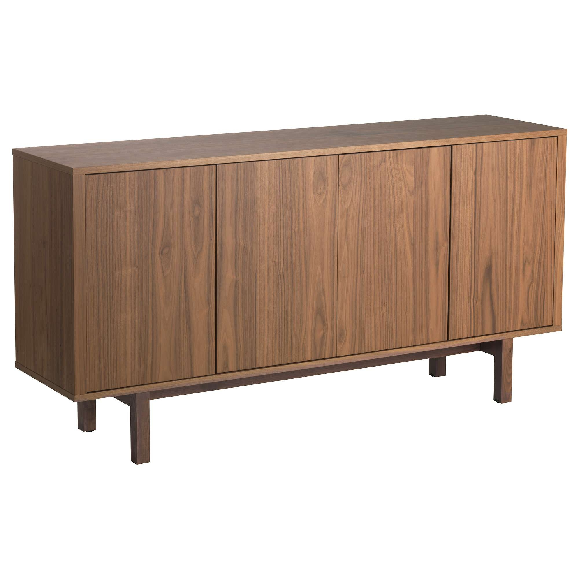 Stockholm Sideboard Walnut Veneer 160X81 Cm – Ikea Intended For Sideboards (View 19 of 20)