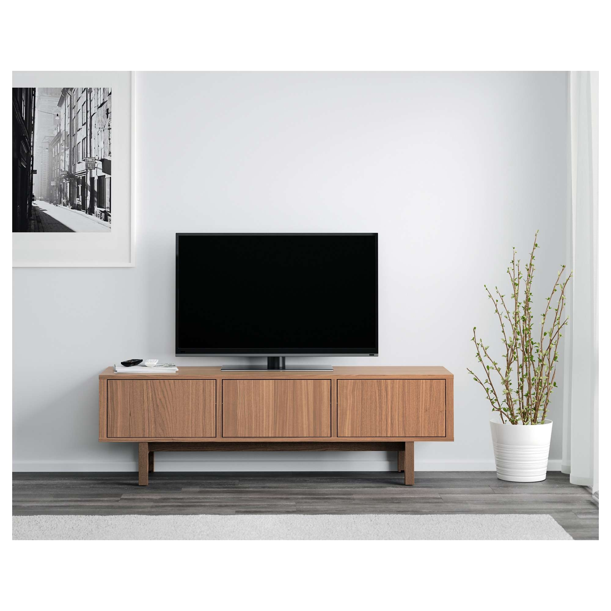 Stockholm Tv Bench Walnut Veneer 160x40 Cm – Ikea With Ikea Stockholm Sideboards (View 12 of 20)