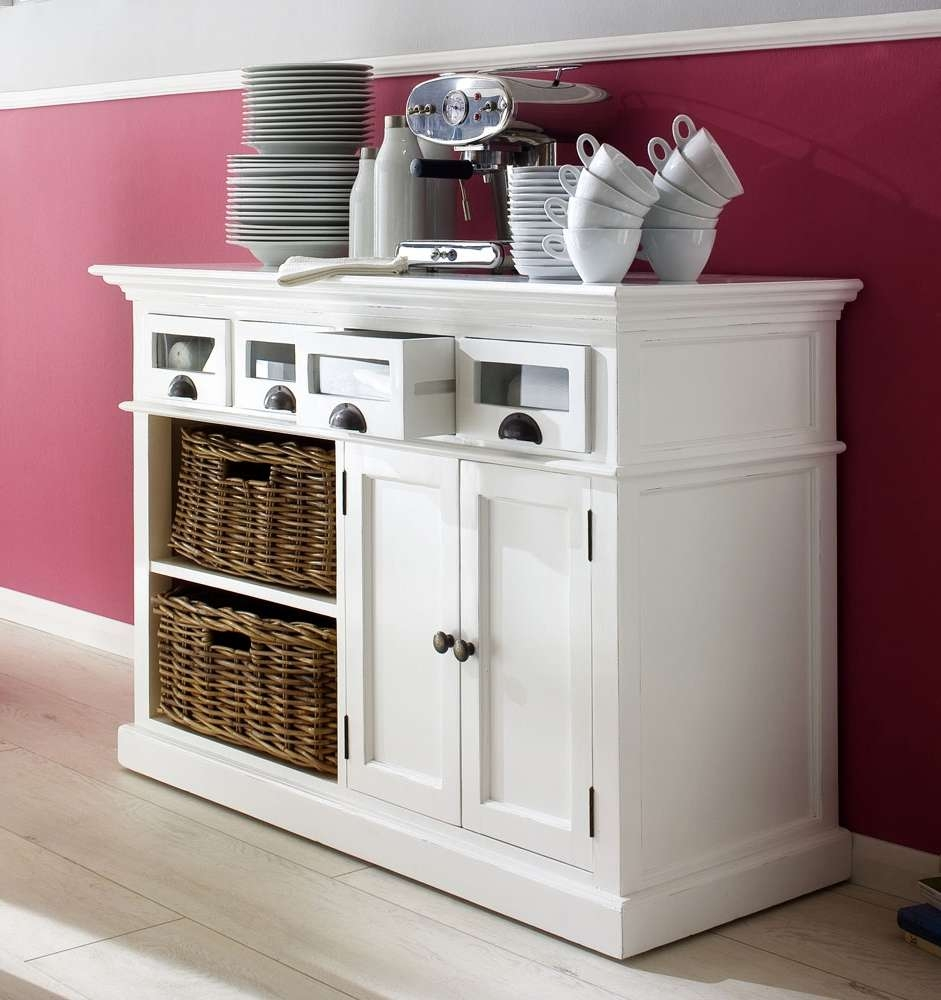 Stockholm White Painted Mahogany Furniture Buffet Sideboard With With White Buffet Sideboards (View 14 of 20)