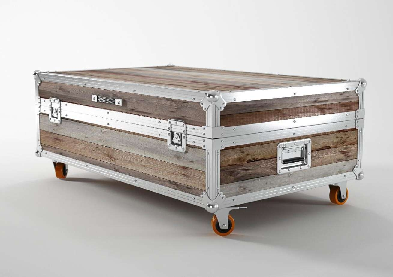 Storage Coffee Table Trunk Plans — Bed And Shower Bed And Shower Inside Best And Newest Silver Trunk Coffee Tables (View 19 of 20)