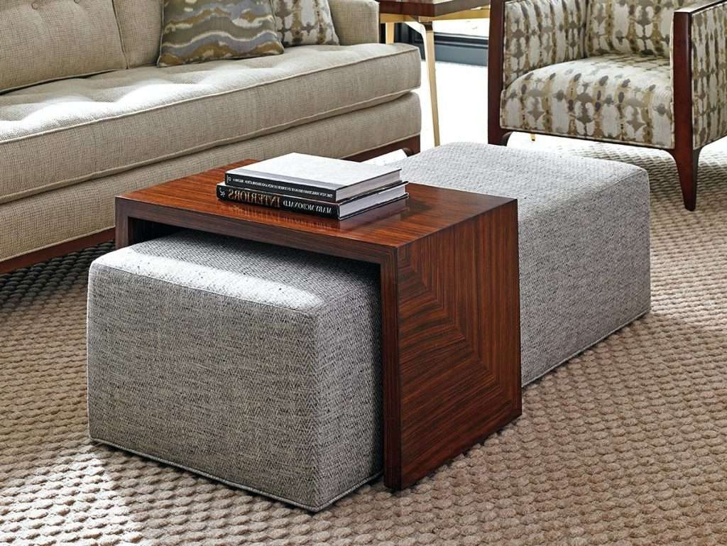 Storage Trunk Ottoman Adjus Coffee Table With Tray Explorer Jessie Throughout Most Recently Released Square Coffee Tables With Storage Cubes (View 14 of 20)