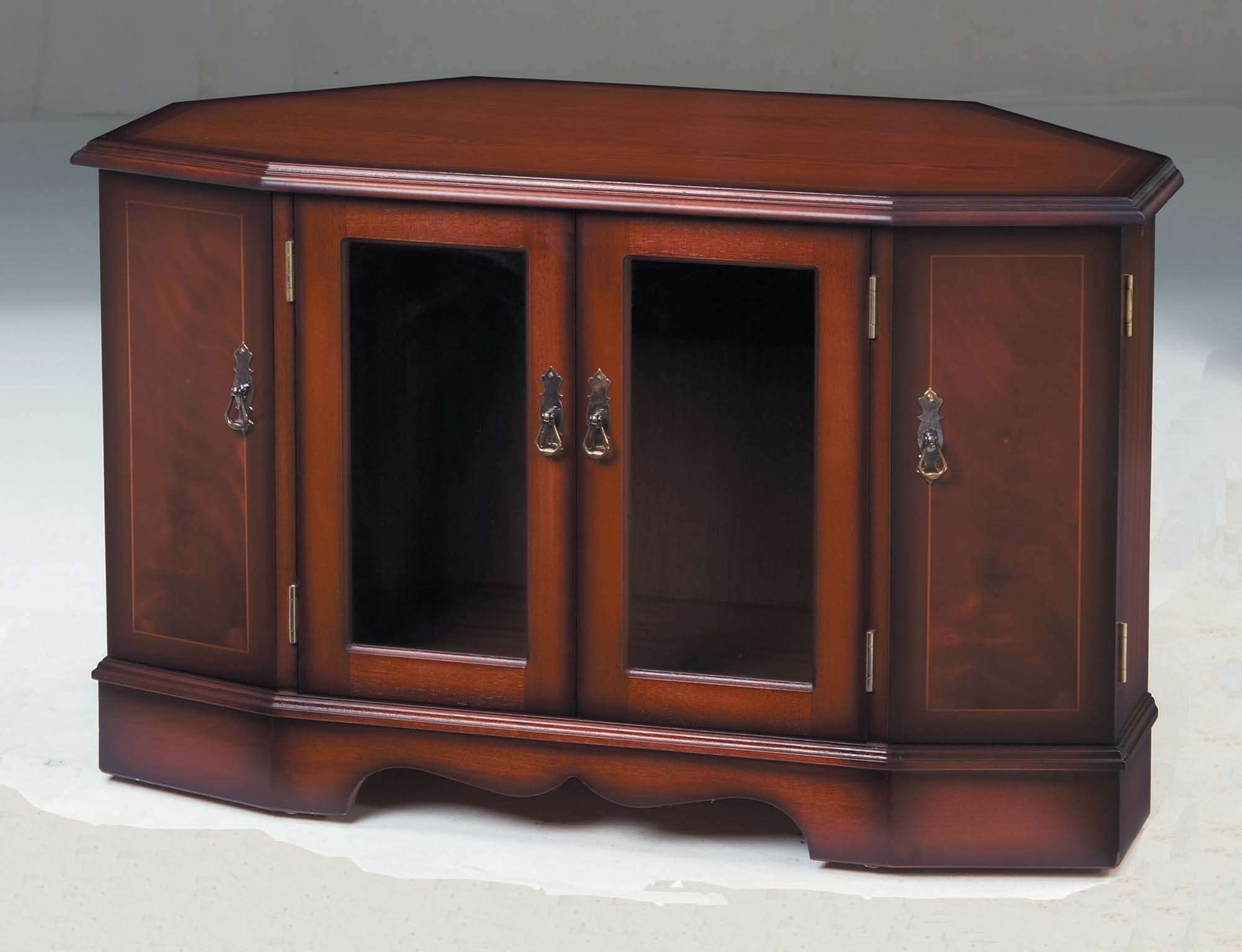 Strongbow Mahogany 1037 Corner Tv Cabinet | Tr Hayes – Furniture Regarding Mahogany Corner Tv Cabinets (View 2 of 20)
