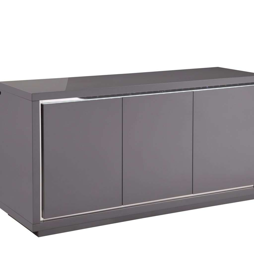 Stylish Grey High Gloss Sideboard – Buildsimplehome For High Gloss Grey Sideboards (View 17 of 20)