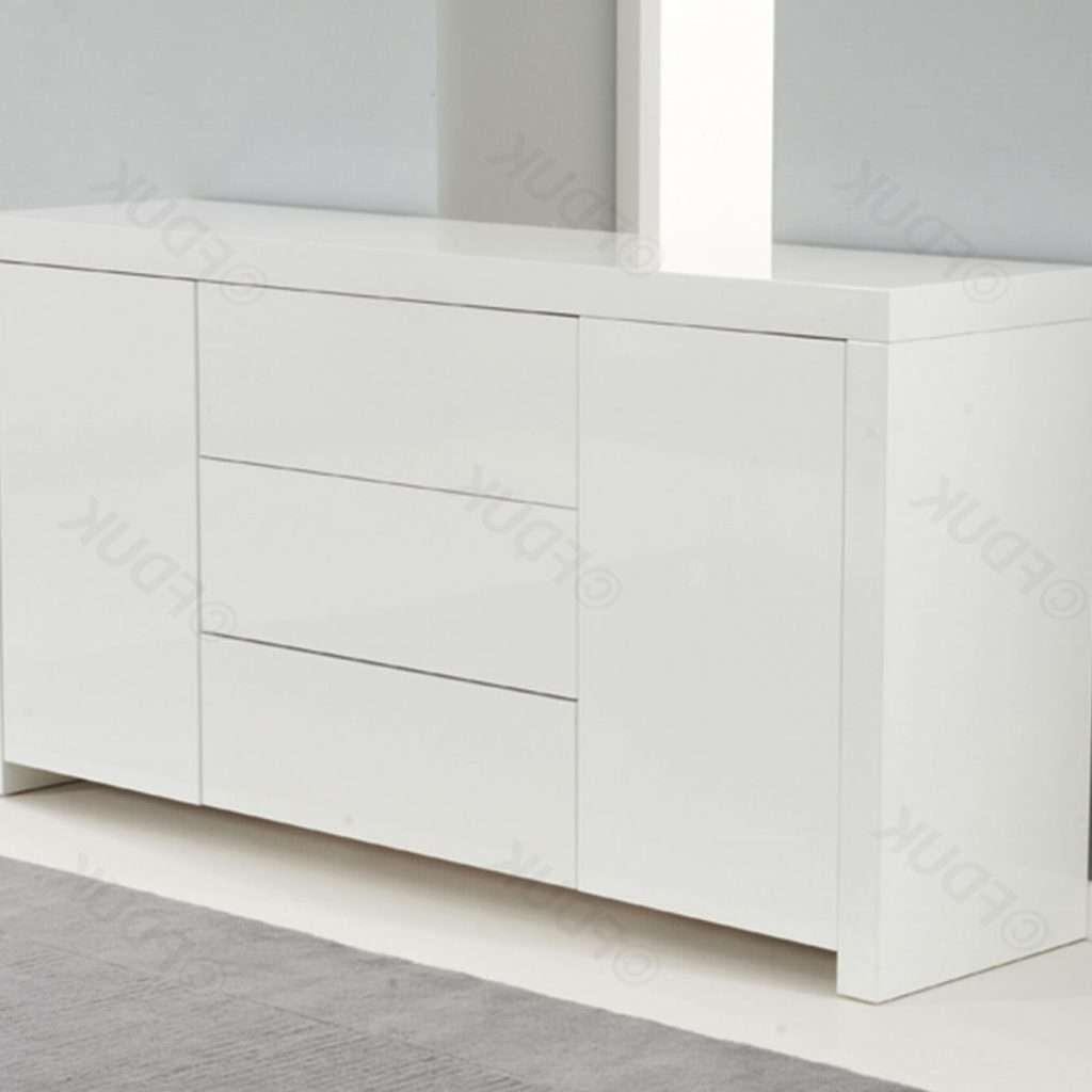 Stylish High White Gloss Sideboard – Buildsimplehome For Gloss Sideboards Furniture (View 15 of 20)