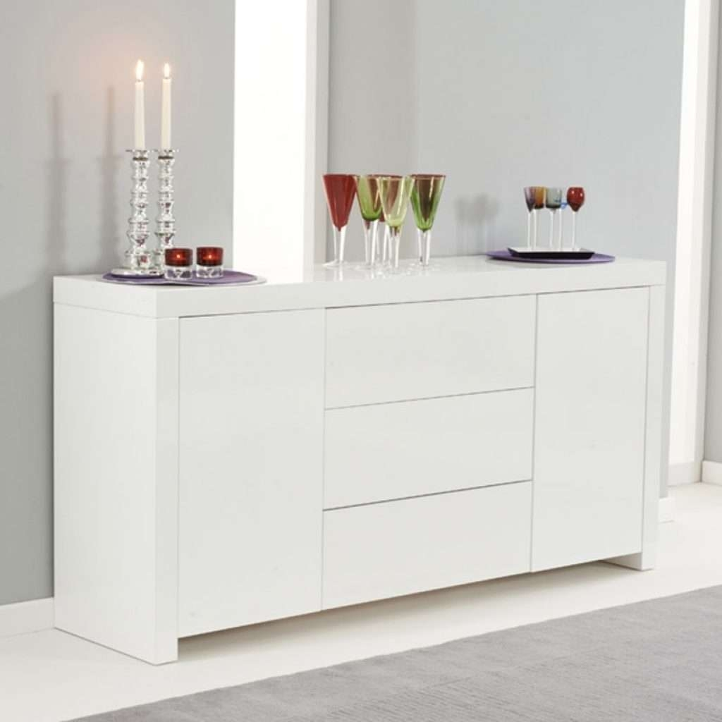 Stylish High White Gloss Sideboard – Buildsimplehome Throughout Gloss Sideboards Furniture (View 6 of 20)