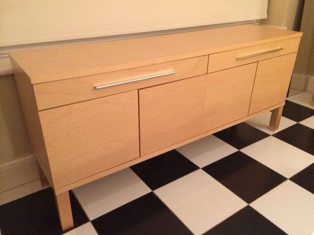 Stylish Ikea Bjursta Sideboard, Birch Veneer, In Perfect Condition Regarding Bjursta Sideboards (View 7 of 20)