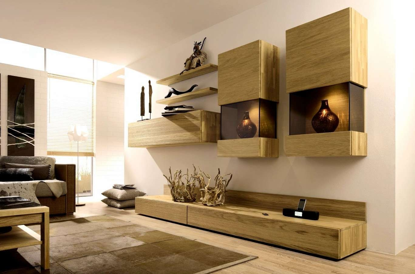 Stylish Tv Wall Units For Living Room In Modern Style Houseti With Stylish Tv Cabinets (View 3 of 20)