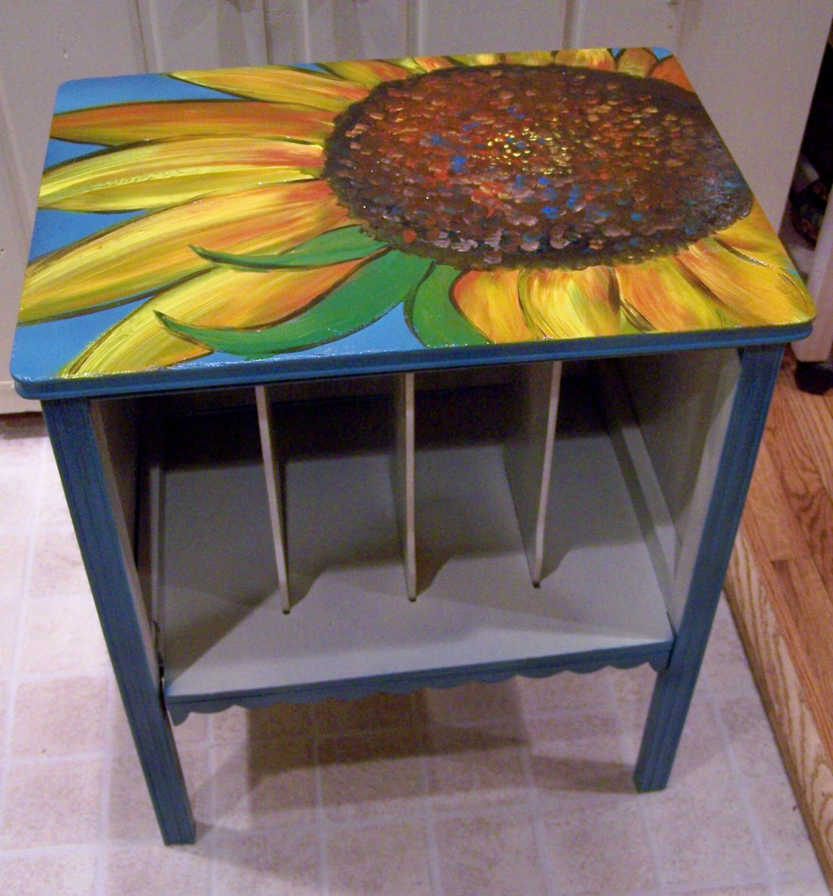 Sunflower Cabinet And Poppy Coffee Table (View 9 of 20)
