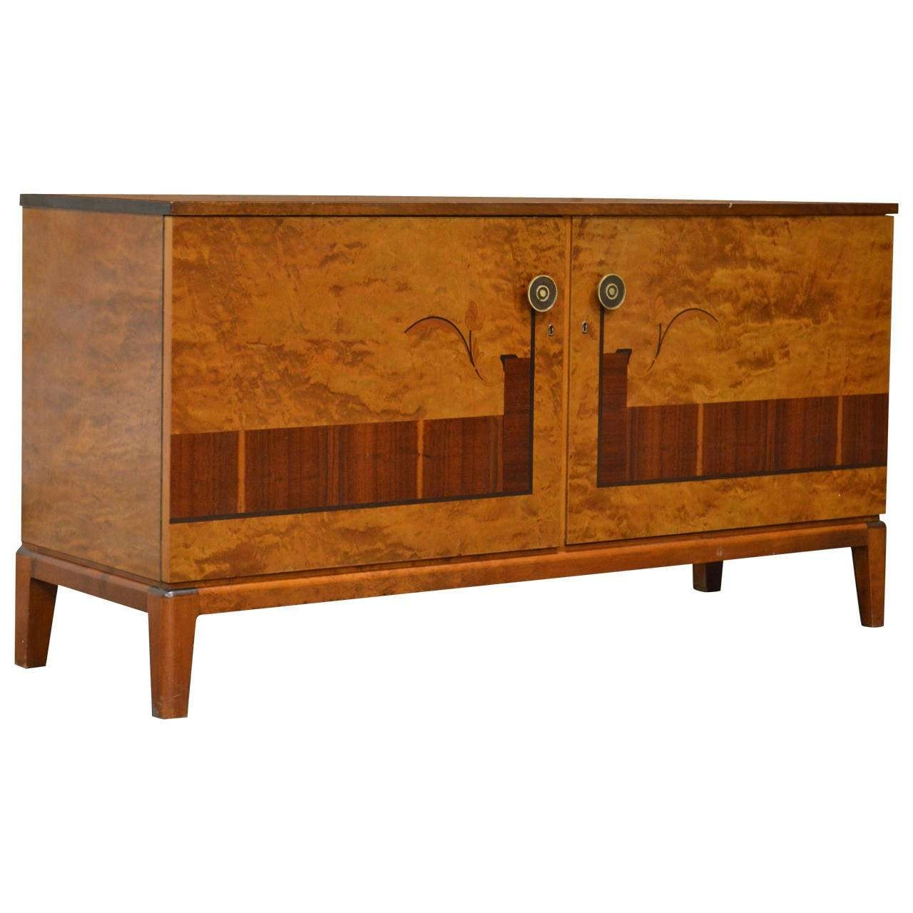 Swedish Art Deco Moderne Intarsia Sideboard Buffet Cabinet At 1stdibs With Art Deco Sideboards (View 19 of 20)