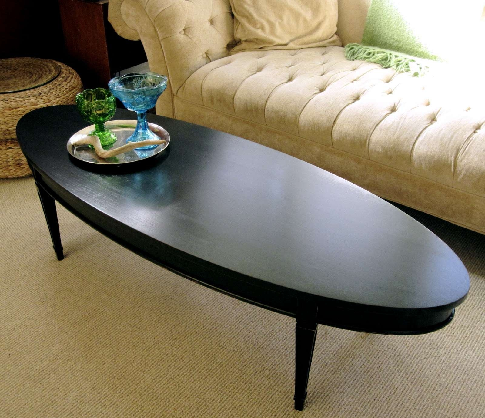 Sweet Tree Furniture: Black Oval Coffee Table Intended For Most Recently Released Black Oval Coffee Tables (View 3 of 20)