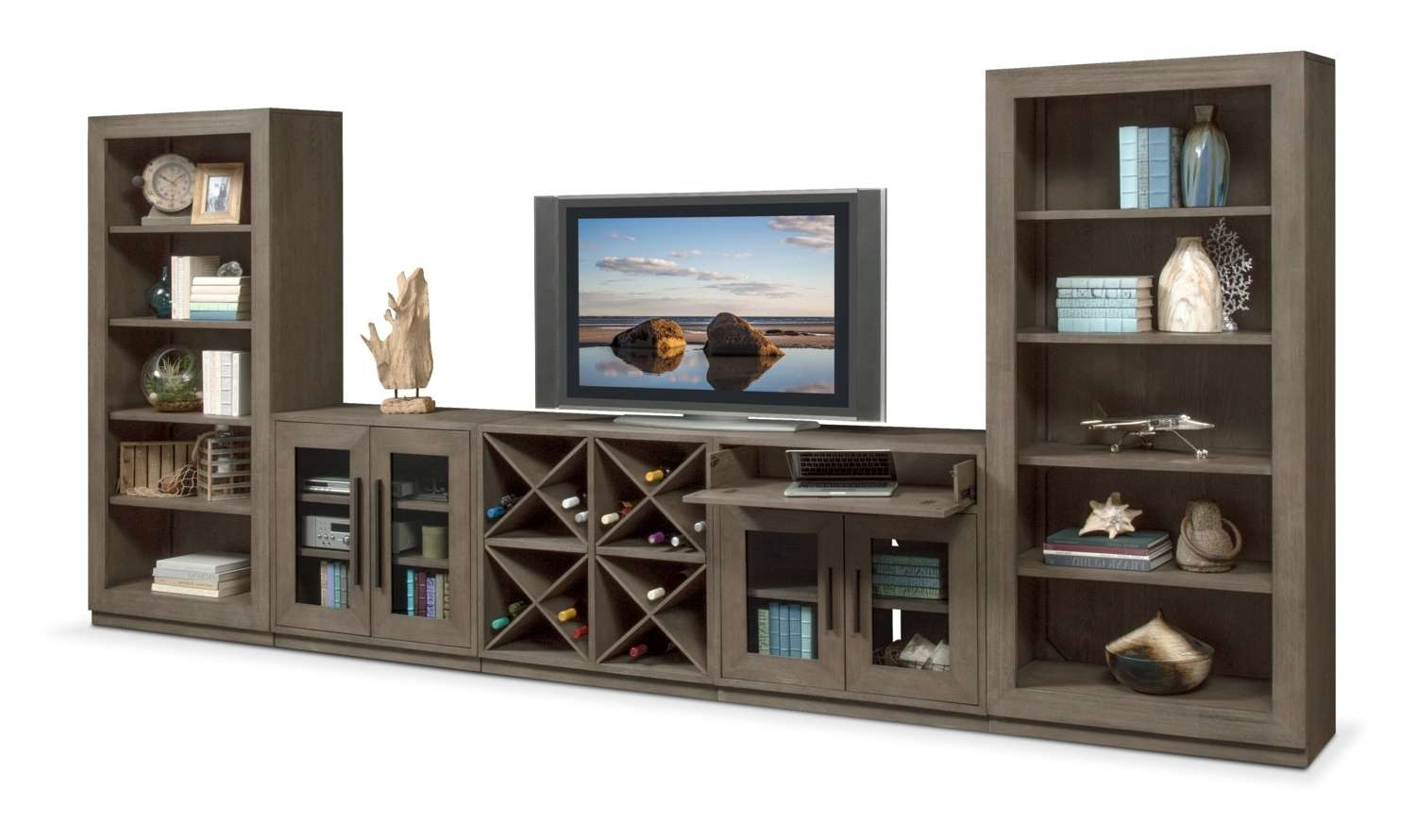 T V Stands & Media Centers | Value City Furniture And Mattresses Pertaining To Glass Fronted Tv Cabinets (View 14 of 20)