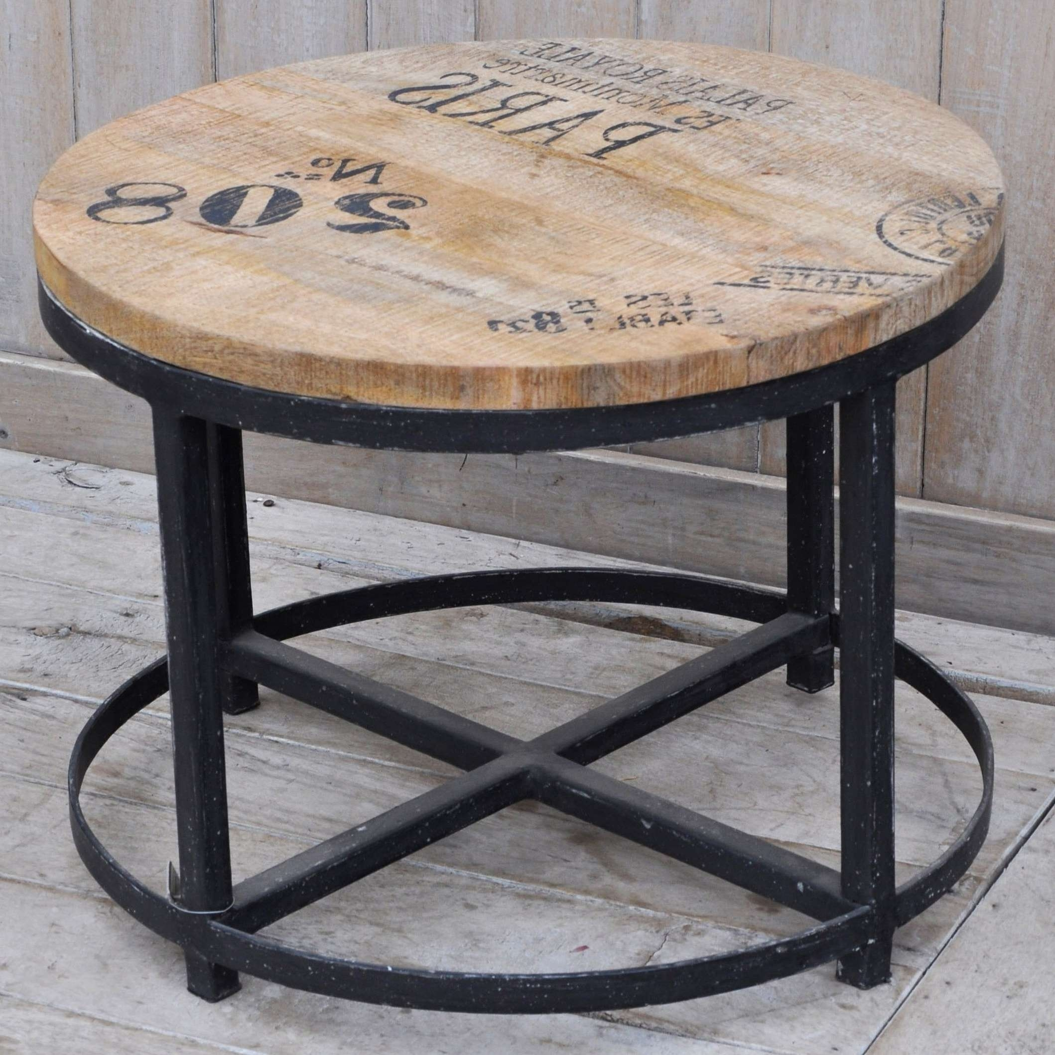 Table : Industrial Round Coffee Table Modern Medium Industrial For Well Known Industrial Round Coffee Tables (View 9 of 20)