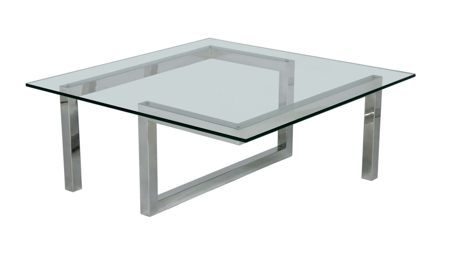 Table : Likable Black Glass Coffee Table With Chrome Legs Engaging With Regard To Well Liked Coffee Tables With Chrome Legs (View 18 of 20)