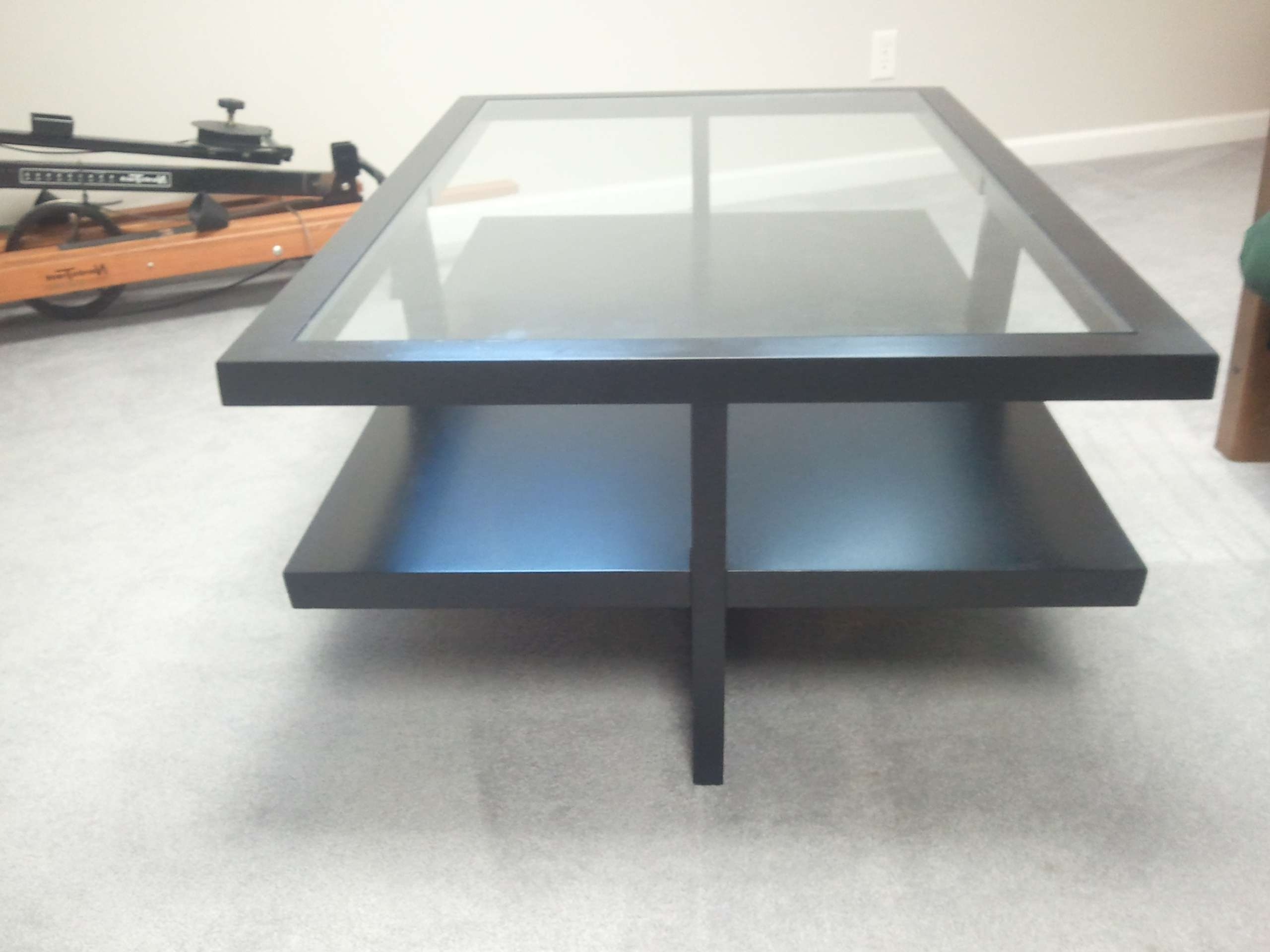 Table : Modern Black Glass Coffee Table Contemporary Large Modern With Most Recently Released Modern Black Glass Coffee Table (View 11 of 20)