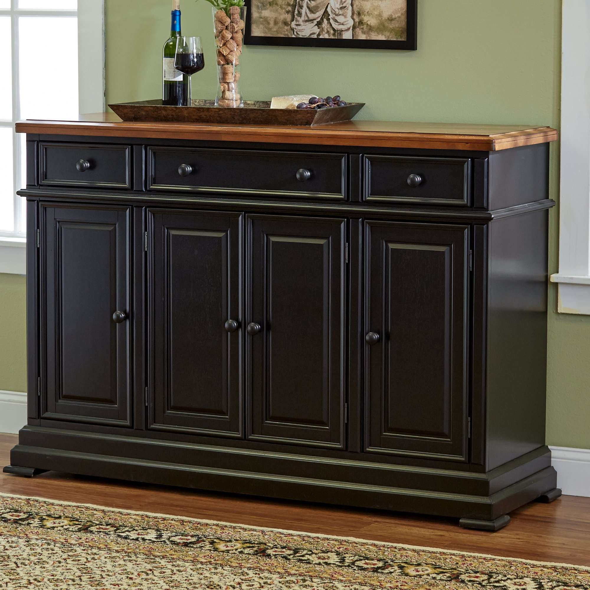 Tall Accent Storage Cabinet Furniture Distressed Sideboard For Tall Sideboards (View 3 of 20)