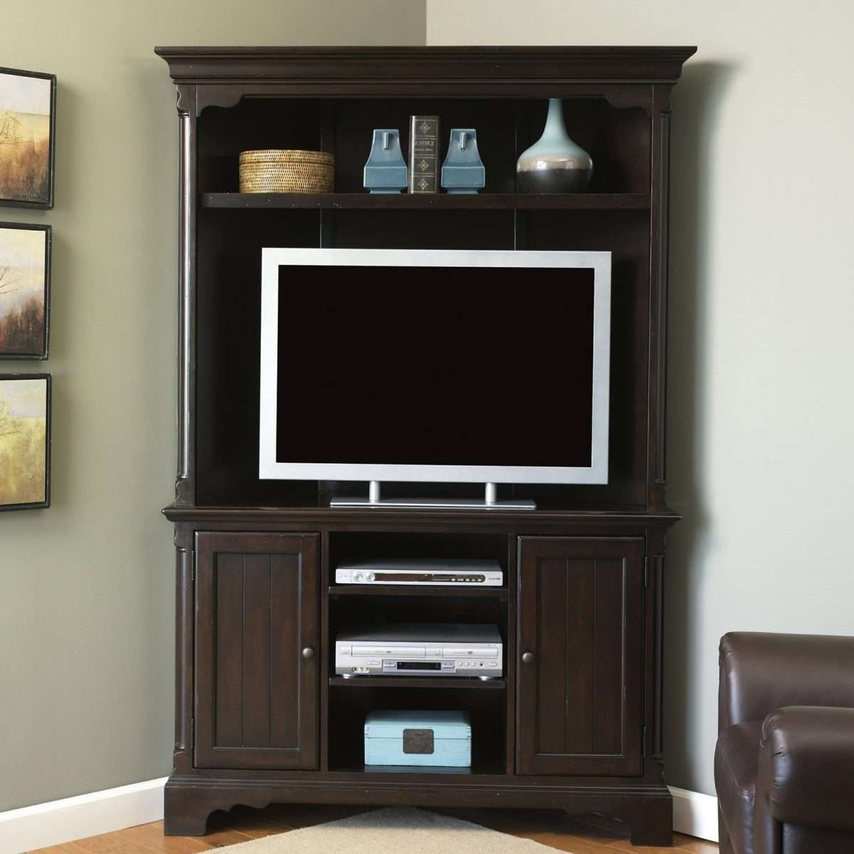 Tall Corner Tv Stand White Uniqueer Armoirec2a0 Photos Concept Regarding Corner Tv Cabinets For Flat Screens With Doors (View 19 of 20)