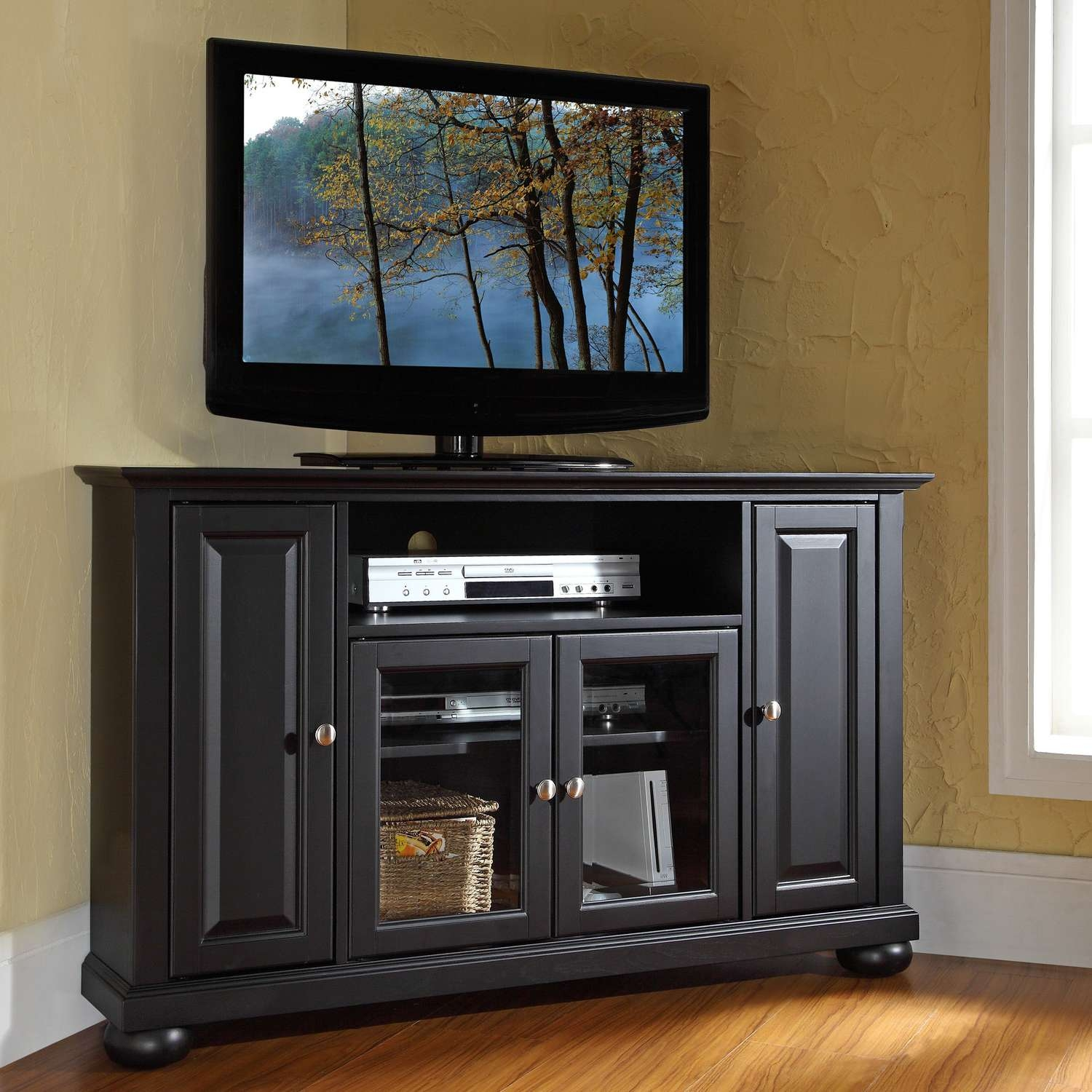Tall Media Console: Good Or Bad? Check This Out! – Home Decorreisa In Tall Black Tv Cabinets (View 17 of 20)